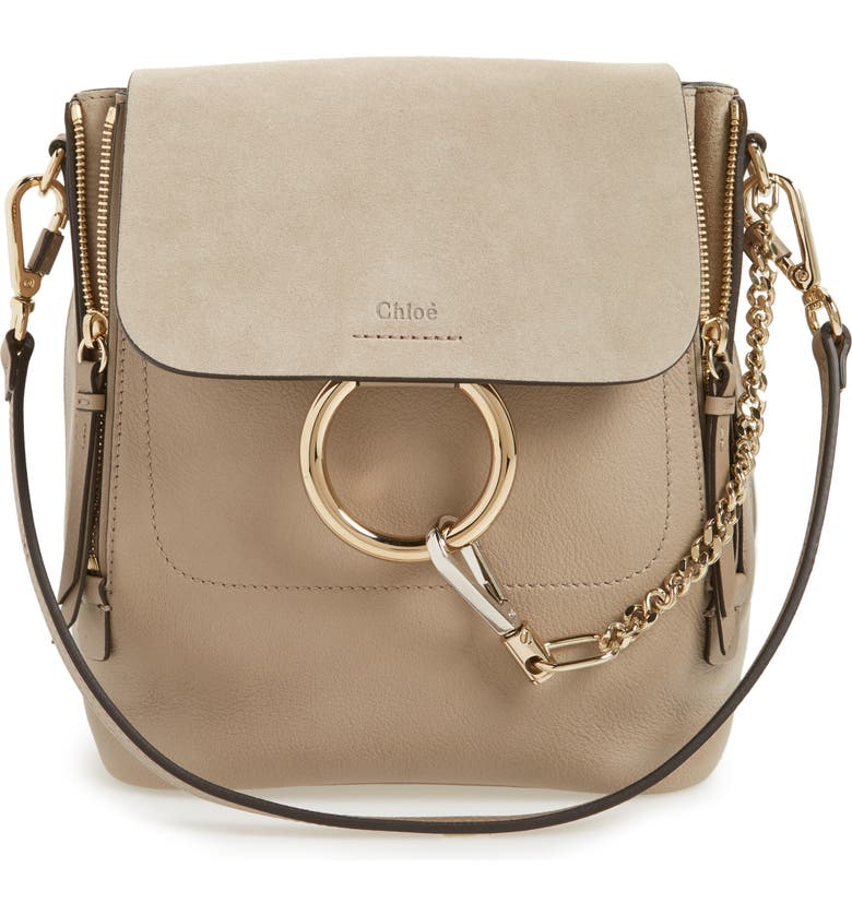 Chloé Small Faye Suede   Leather Backpack  b86daccaf099a