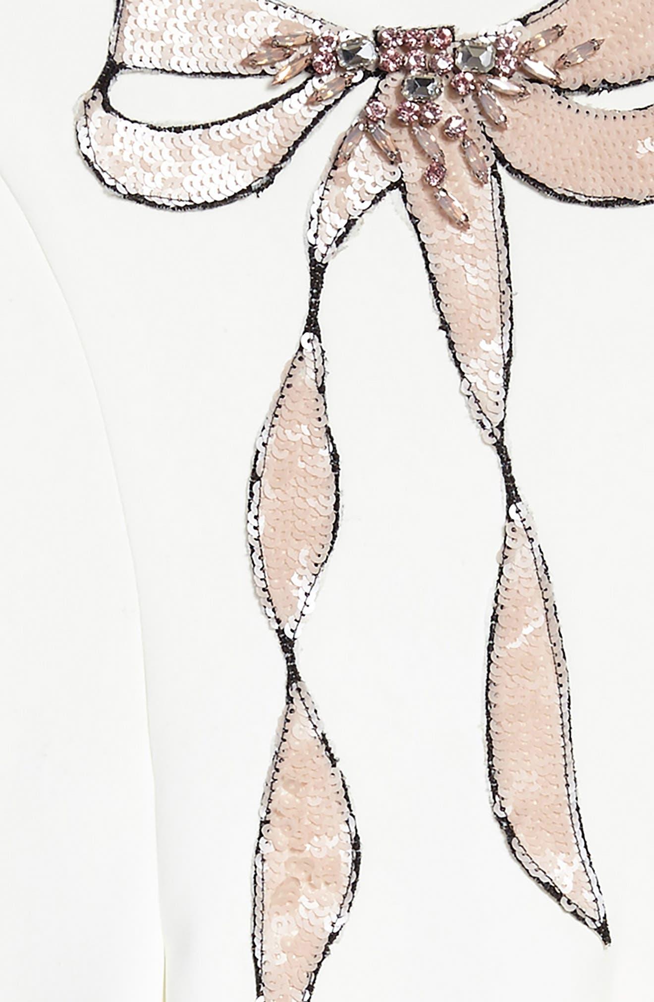 Sequin Embellished Bow A-Line Dress,                             Alternate thumbnail 3, color,                             250