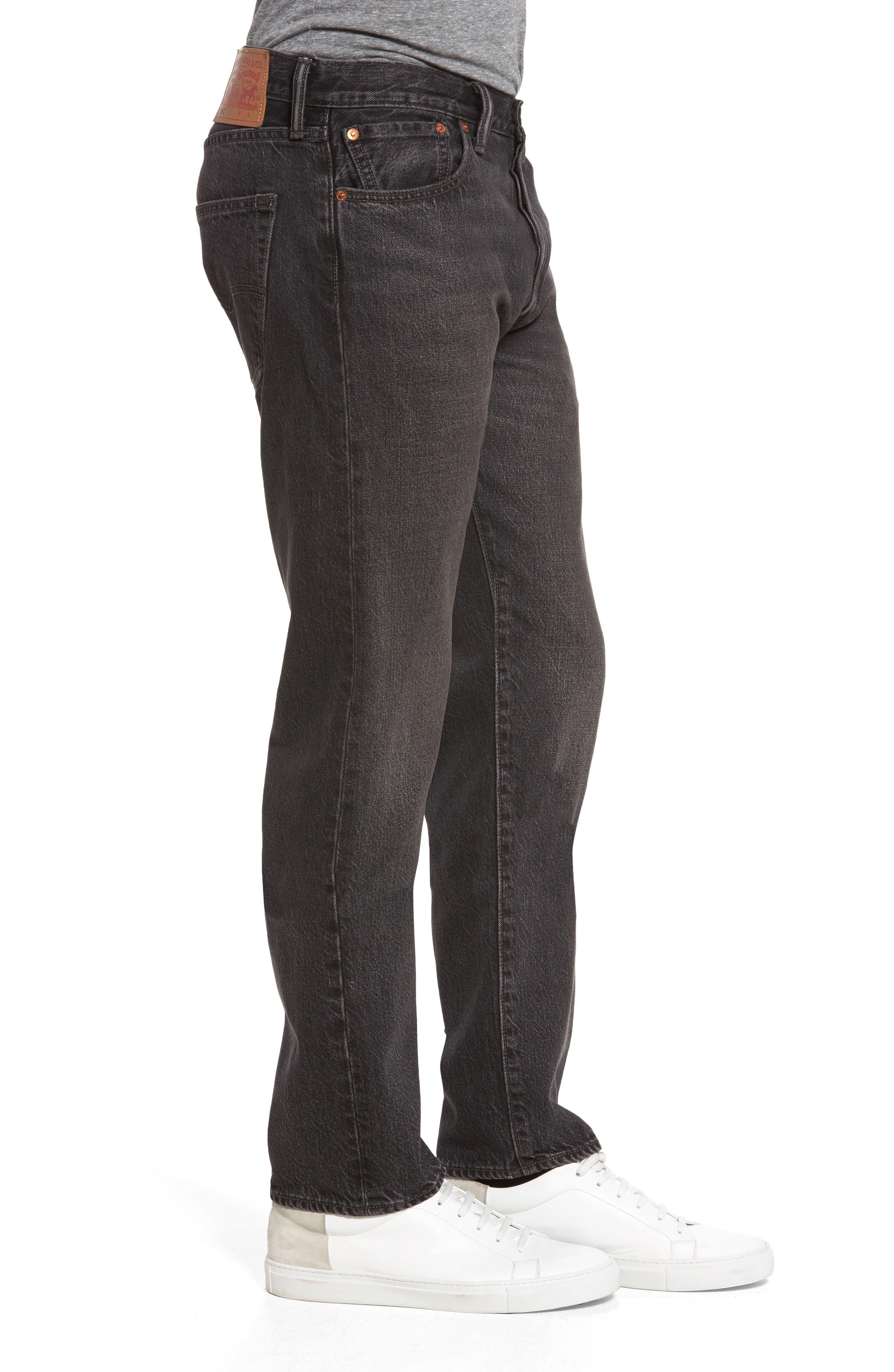 501<sup>™</sup> Straight Leg Jeans,                             Alternate thumbnail 3, color,                             001