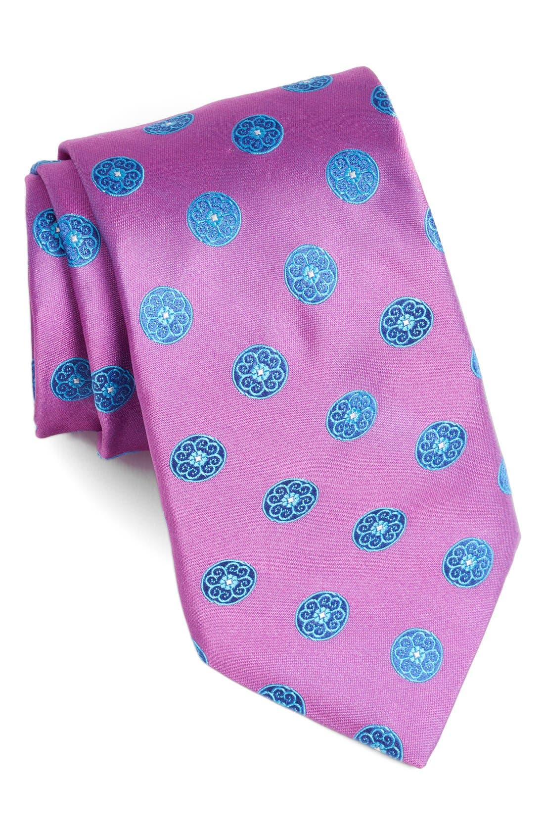 Medallion Woven Silk Tie,                             Main thumbnail 7, color,