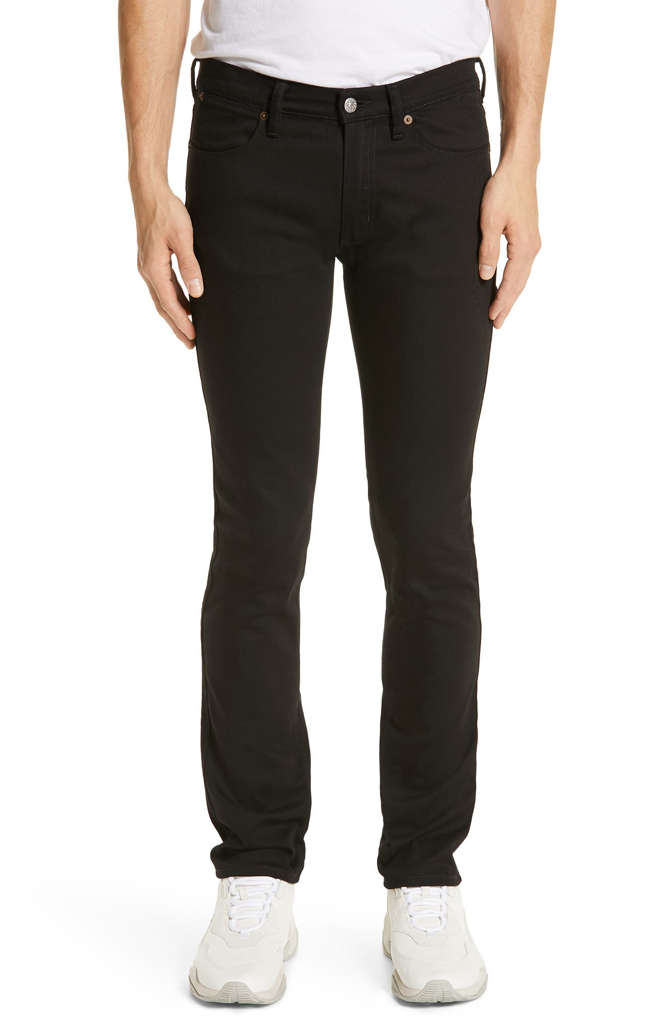 River Used Mamba Skinny Fit Jeans, Main, color, BLACK