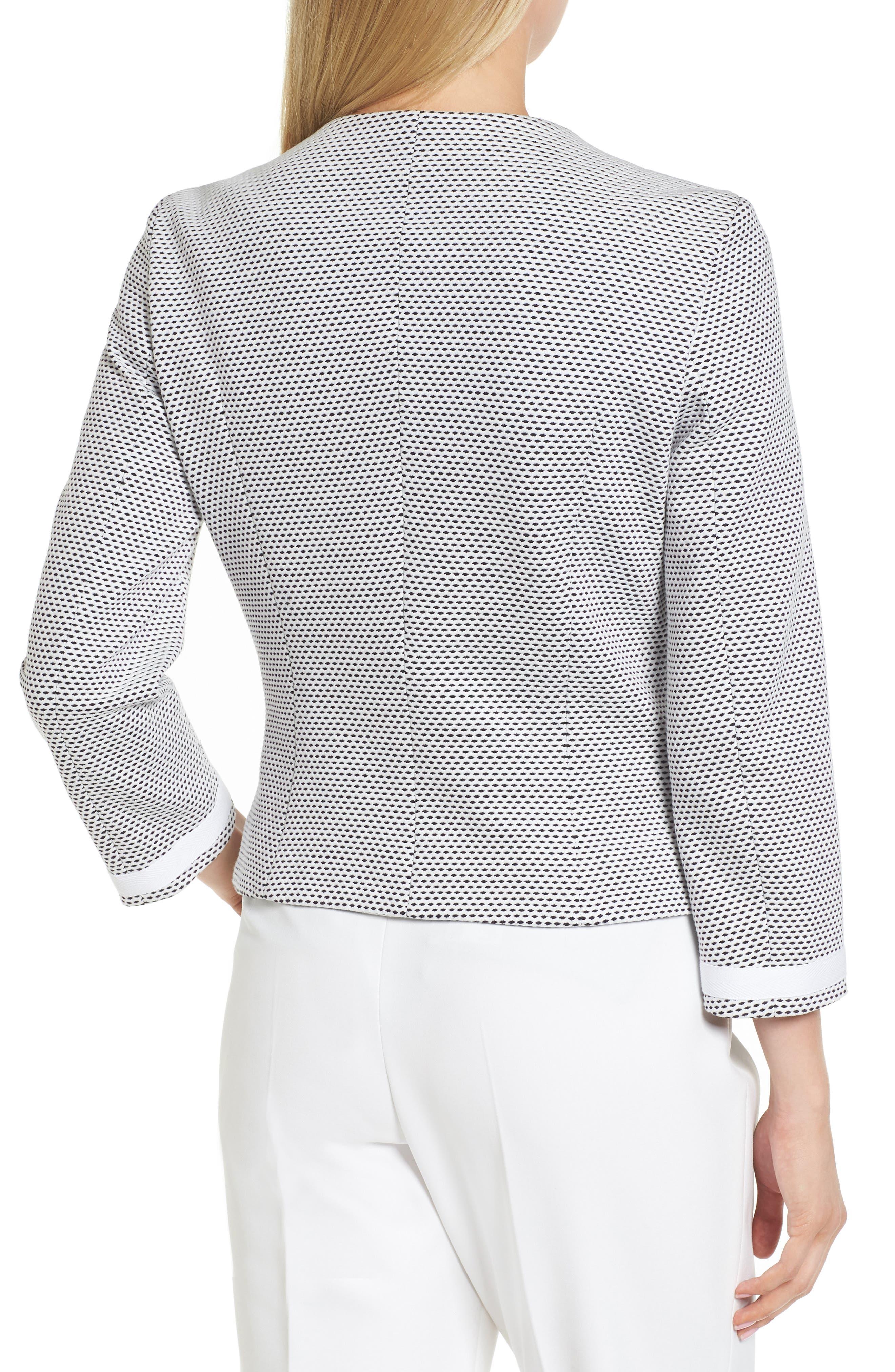 Kaily Cotton Jacquard Crop Jacket,                             Alternate thumbnail 2, color,                             170