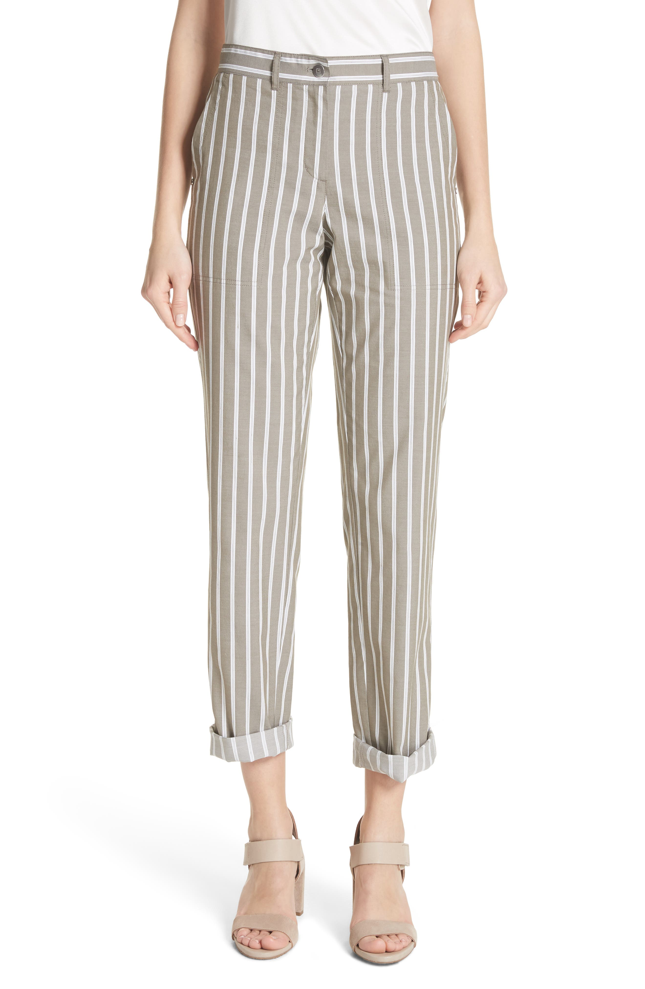 Fulton Desert Stripe Cotton & Linen Pants,                             Main thumbnail 1, color,