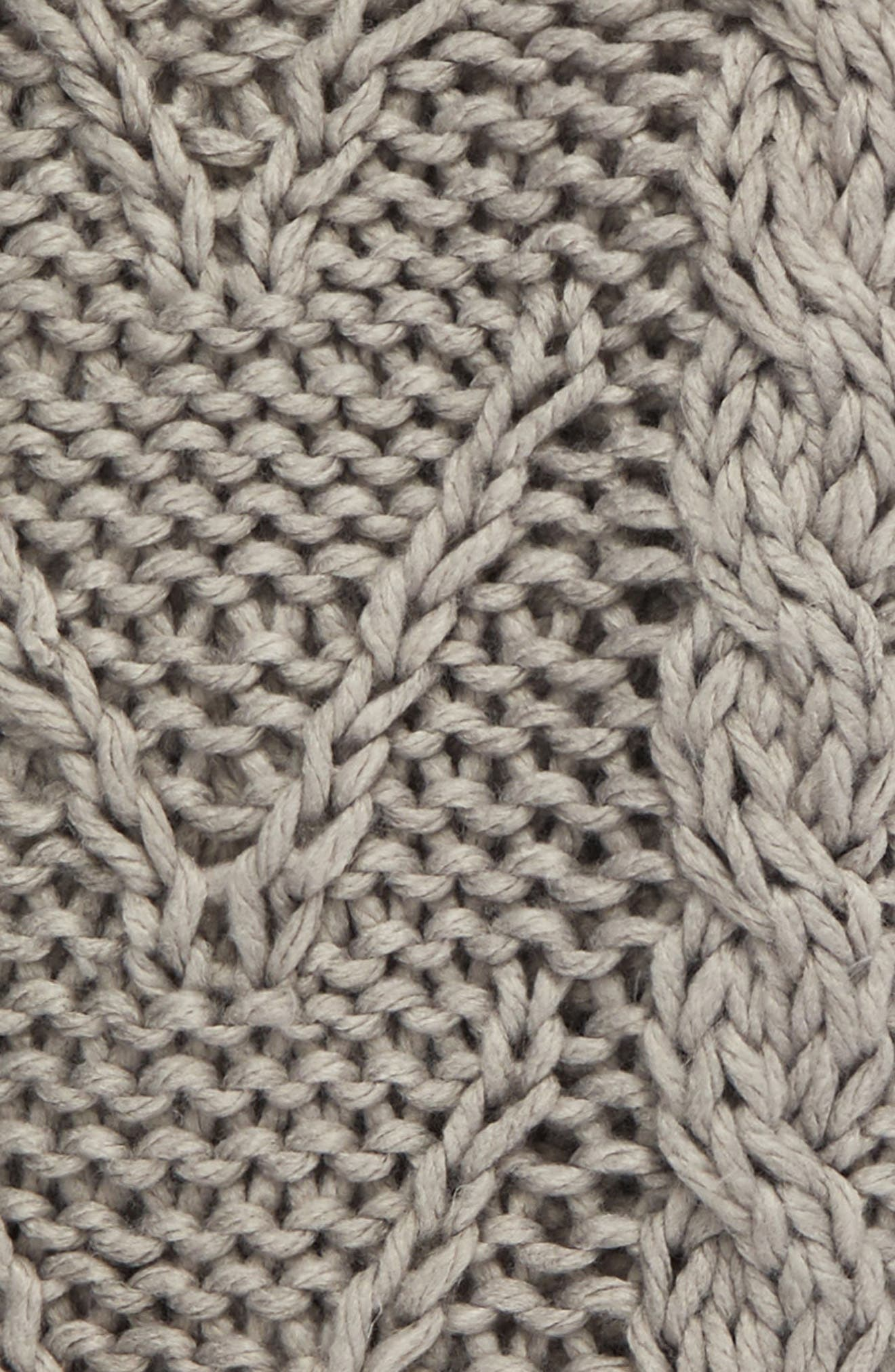 Cable Knit Tassel Throw Blanket,                             Alternate thumbnail 2, color,                             020