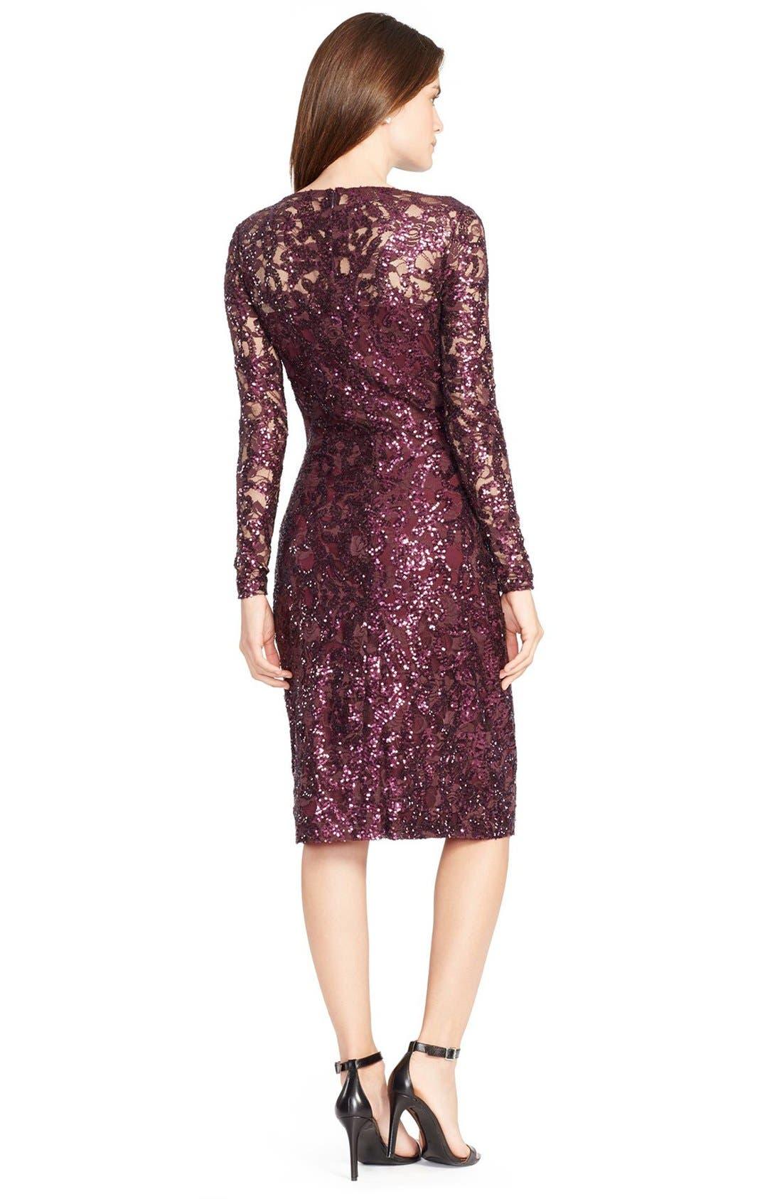 Sequin Lace Sheath Dress,                             Alternate thumbnail 2, color,                             600