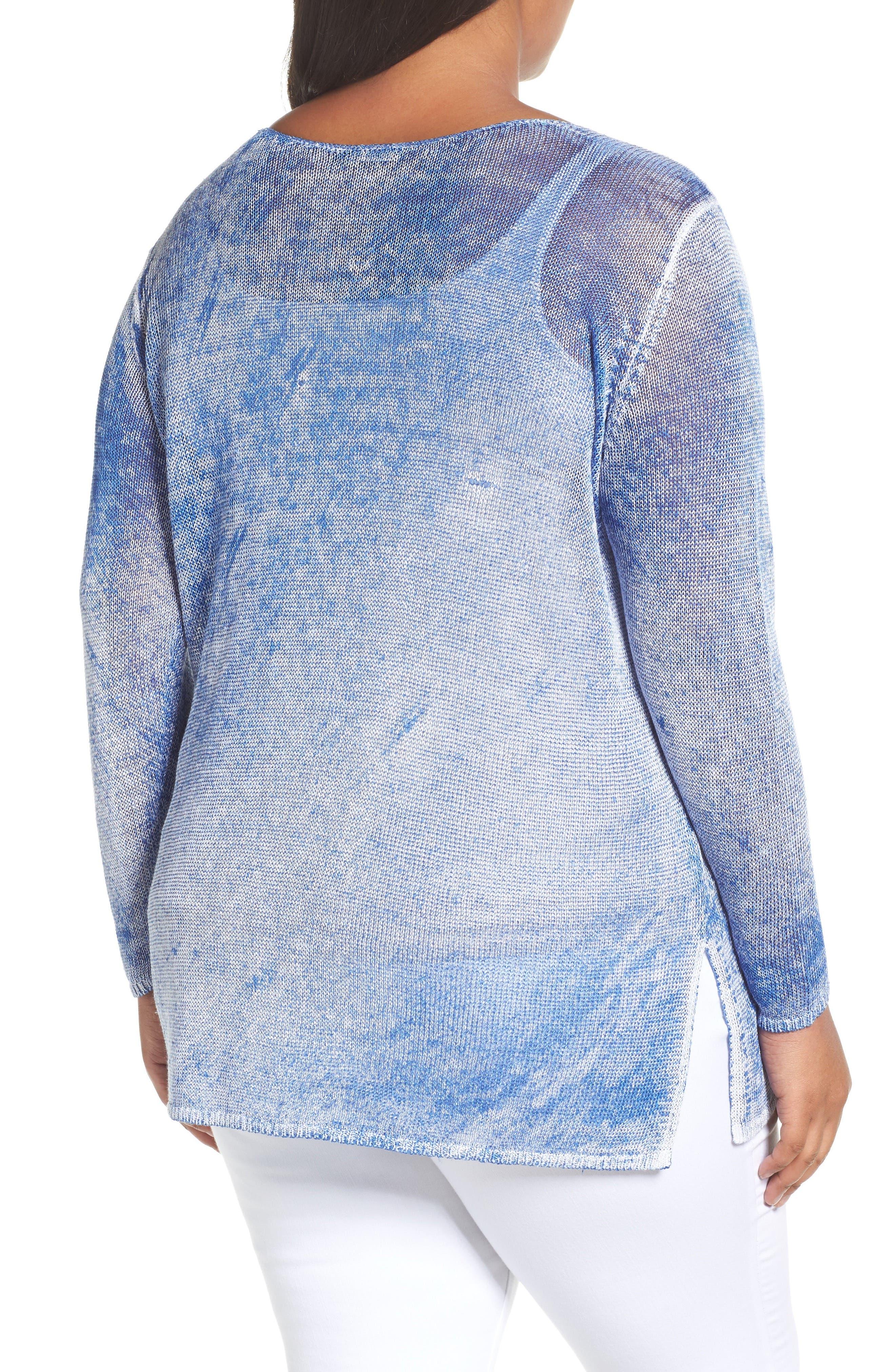 Poolside Linen Blend Pullover,                             Alternate thumbnail 2, color,                             POOLSIDE