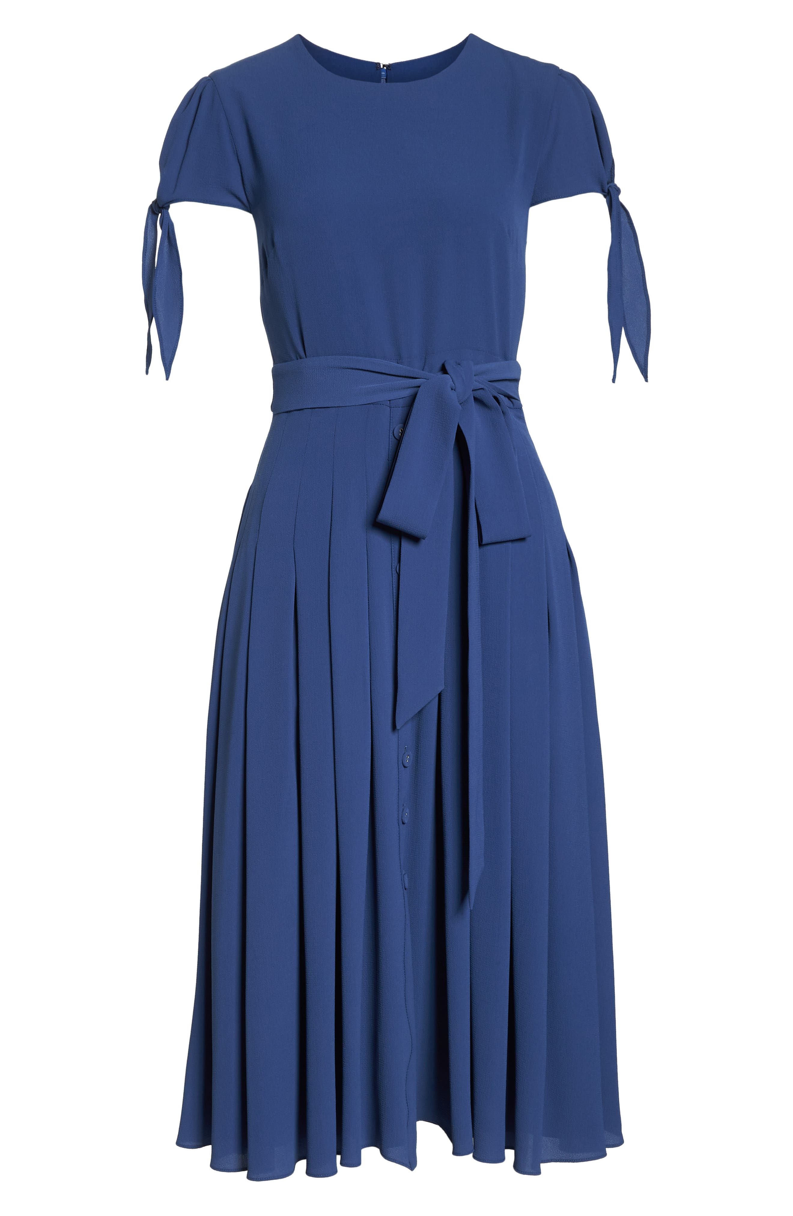 Bette Pleated Midi Dress,                             Alternate thumbnail 7, color,                             405