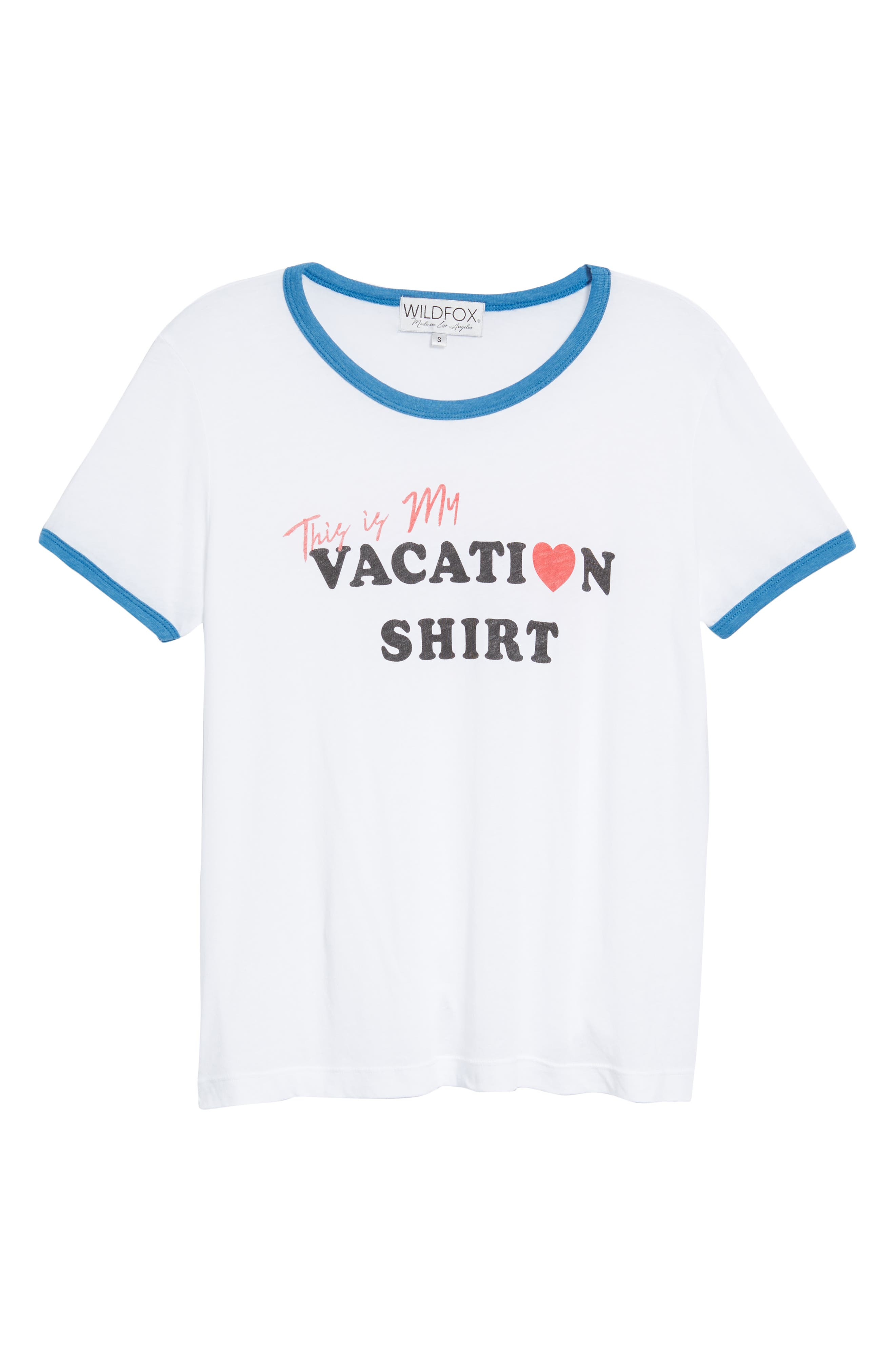 Vacation Johnny Ringer Tee,                             Alternate thumbnail 6, color,                             CLEAN WHITE