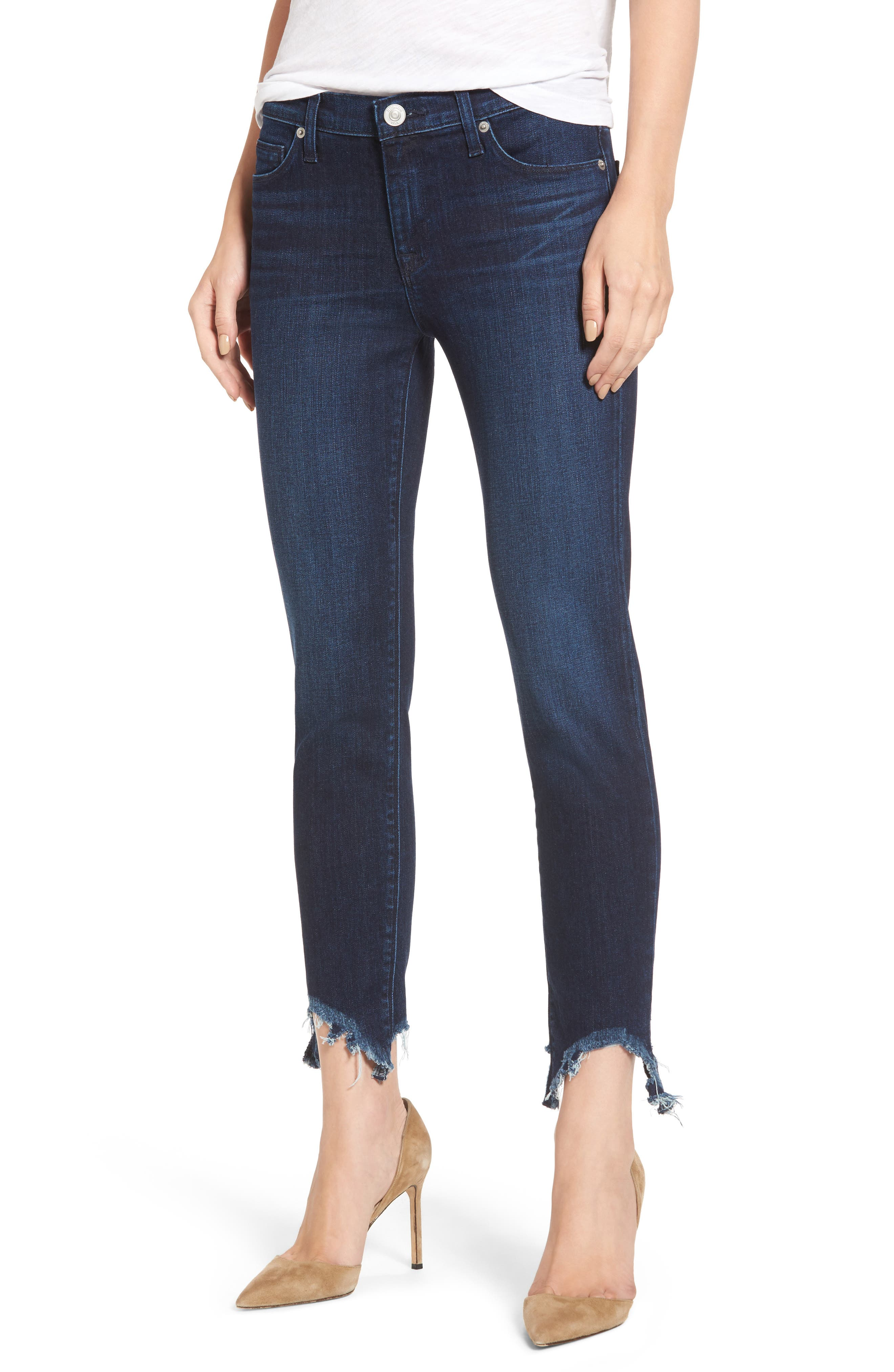 Tally Unfamed Hem Skinny Jeans,                             Main thumbnail 1, color,                             401