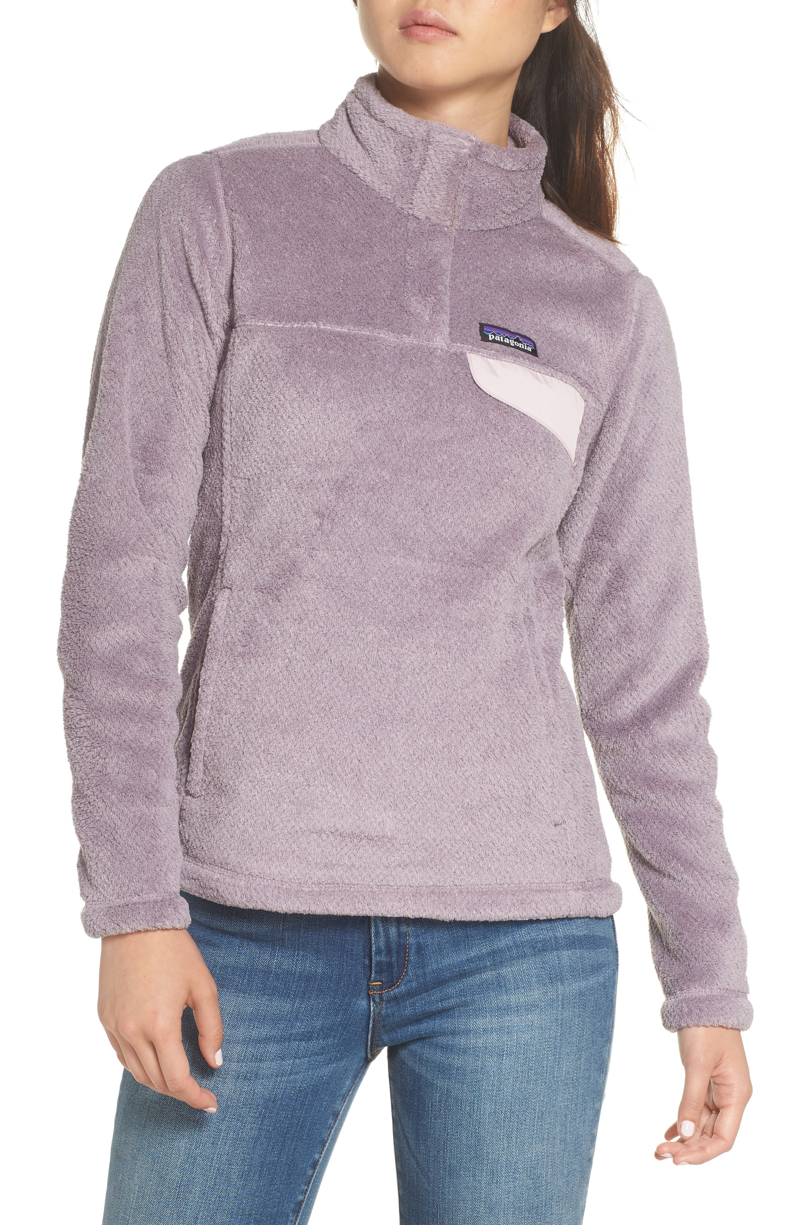 Re-Tool Snap-T<sup>®</sup> Fleece Pullover,                         Main,                         color, SMOKEY VIOLET PURPLE X-DYE