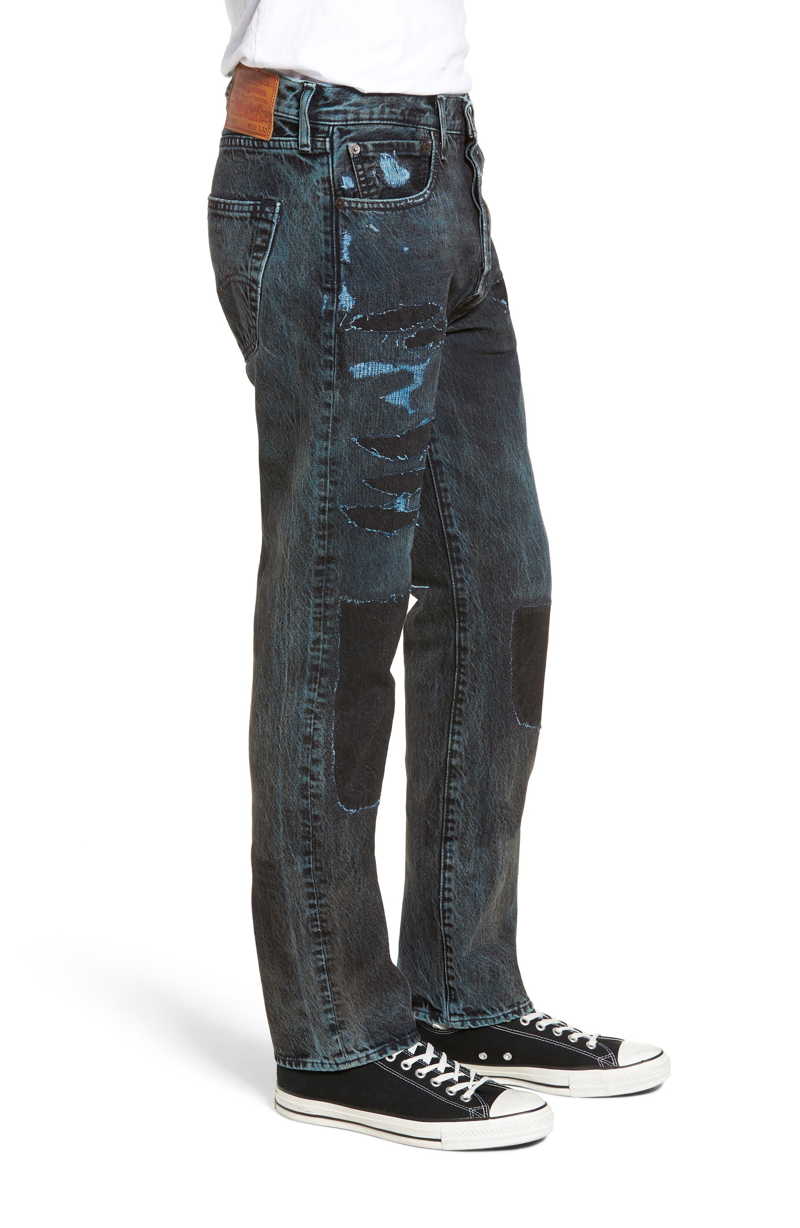 501<sup>®</sup> Straight Leg Jeans,                             Alternate thumbnail 3, color,                             SOULSIDE WARP STRETCH