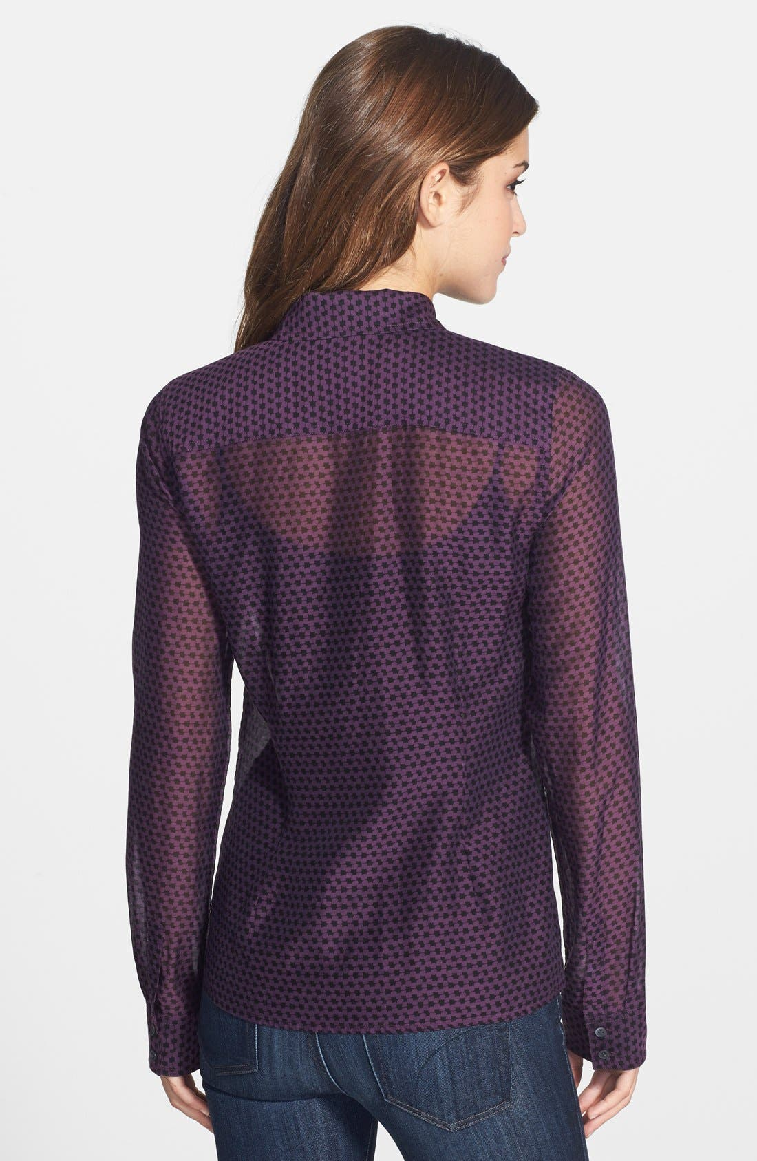 Cotton & Silk Shirt,                             Alternate thumbnail 119, color,
