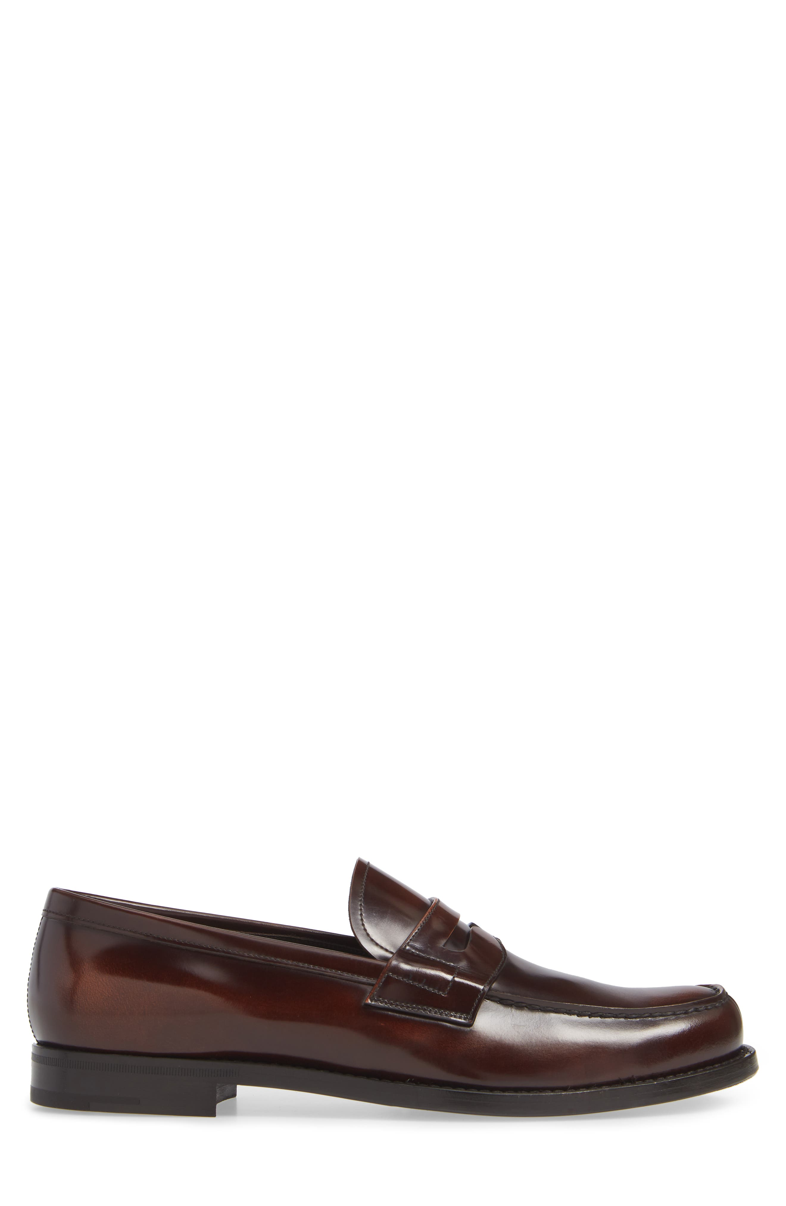 Penny Loafer,                             Alternate thumbnail 3, color,                             TOBACCO