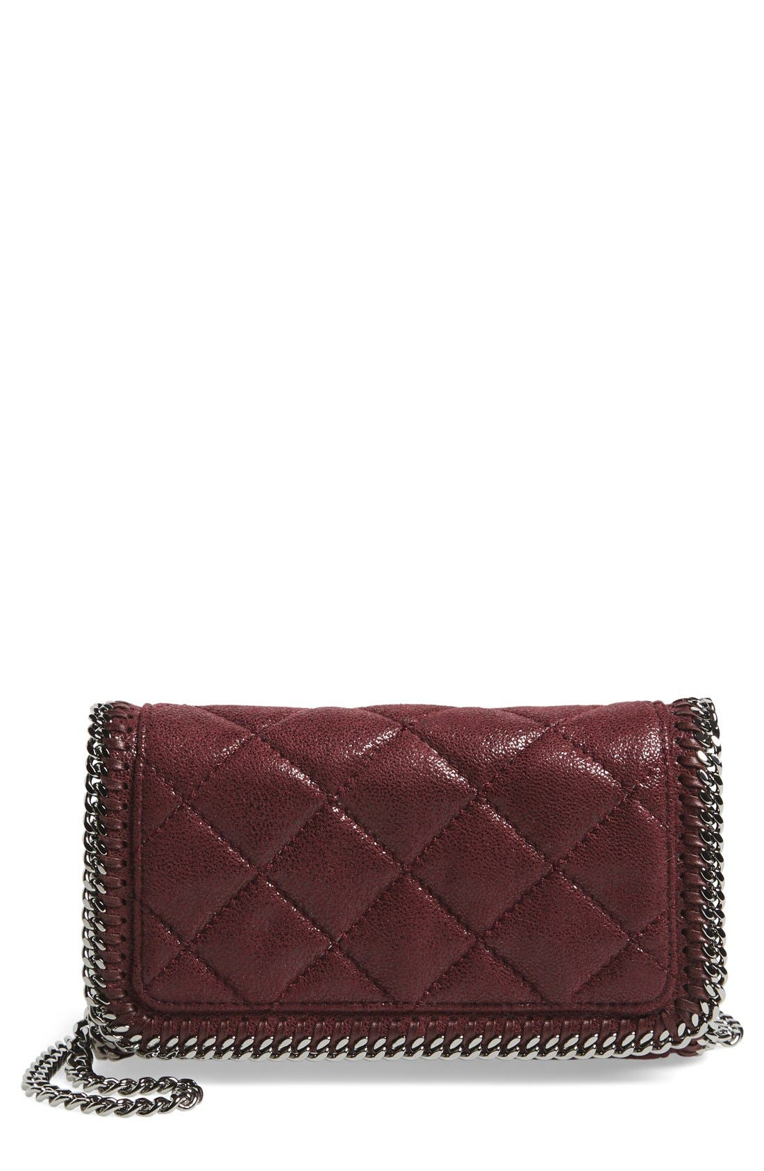 'Falabella' Quilted Faux Leather Crossbody Bag,                             Main thumbnail 4, color,