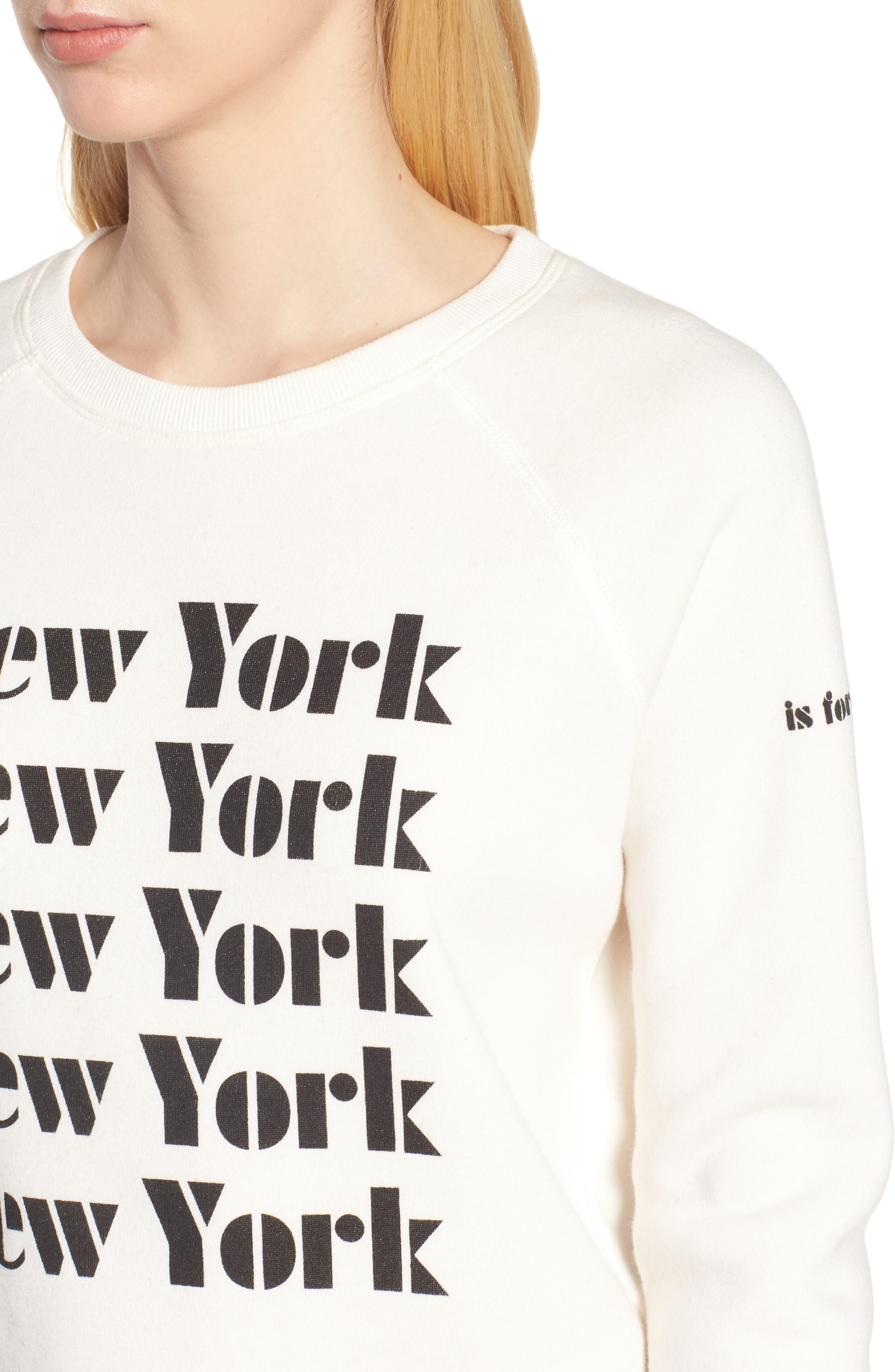 New York Sweatshirt,                             Alternate thumbnail 4, color,                             901