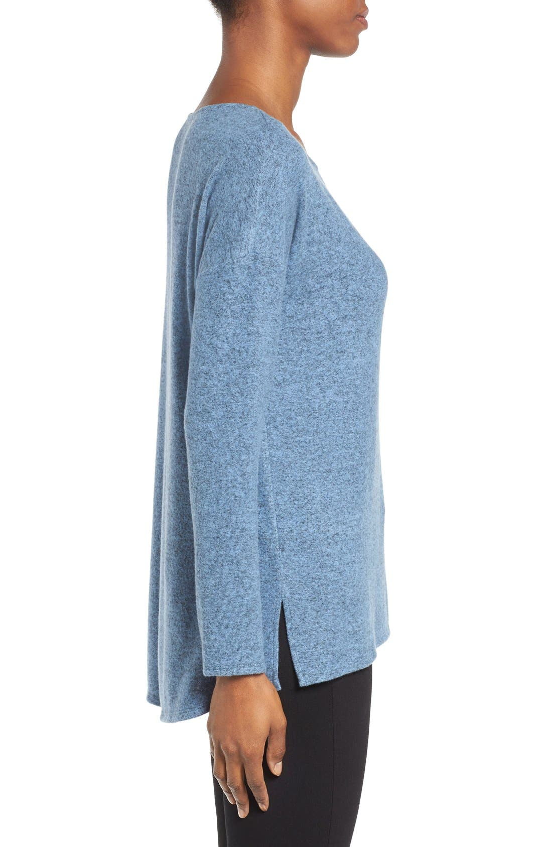 Cozy Ballet Neck High/Low Pullover,                             Alternate thumbnail 48, color,