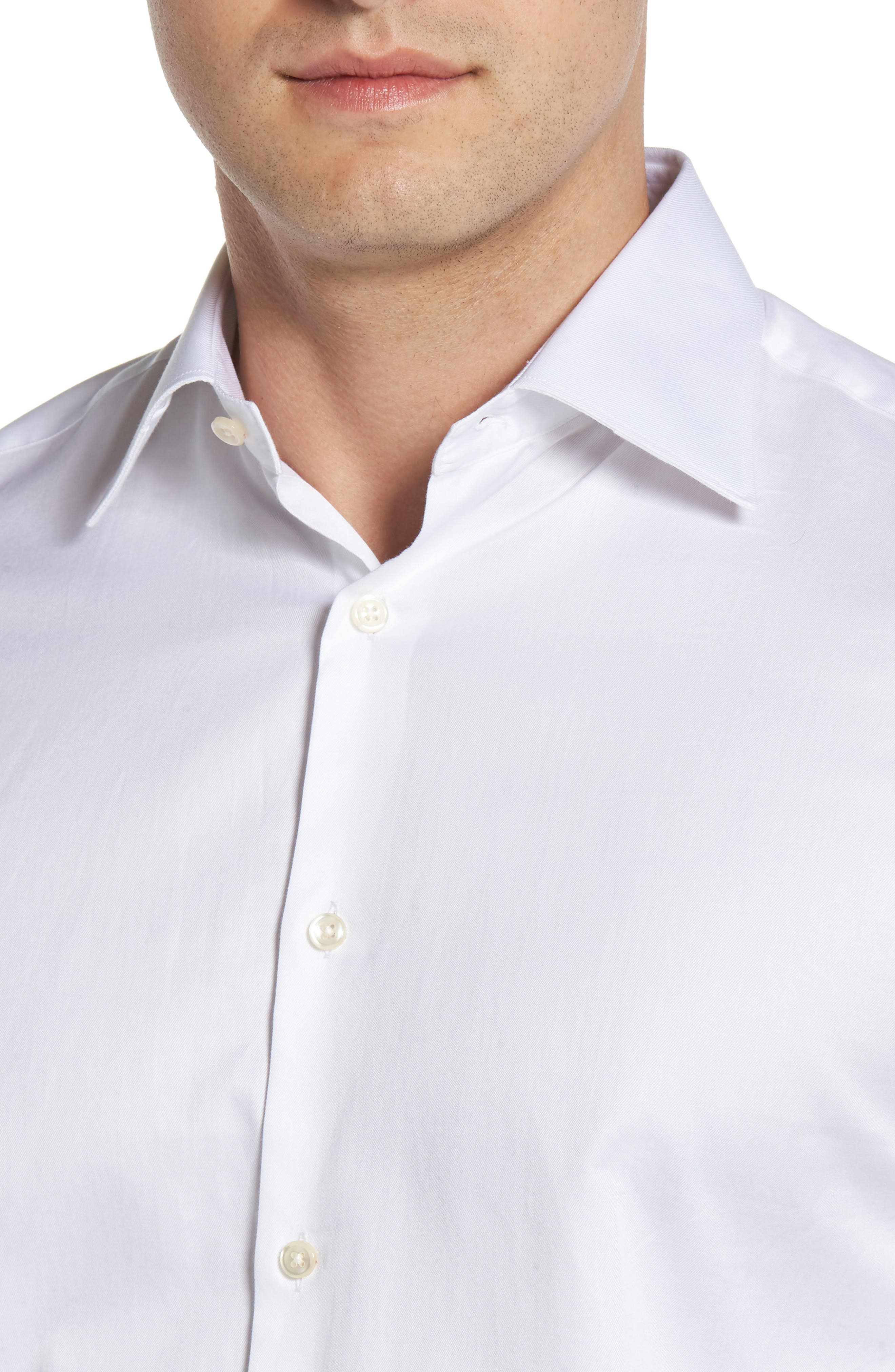 Regular Fit Solid Dress Shirt,                             Alternate thumbnail 2, color,                             100
