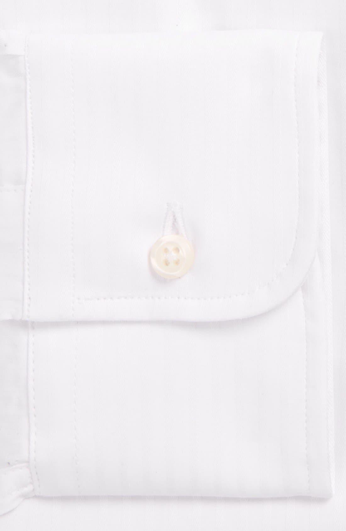 Regular Fit Tonal Stripe Twill Dress Shirt,                             Alternate thumbnail 2, color,                             100
