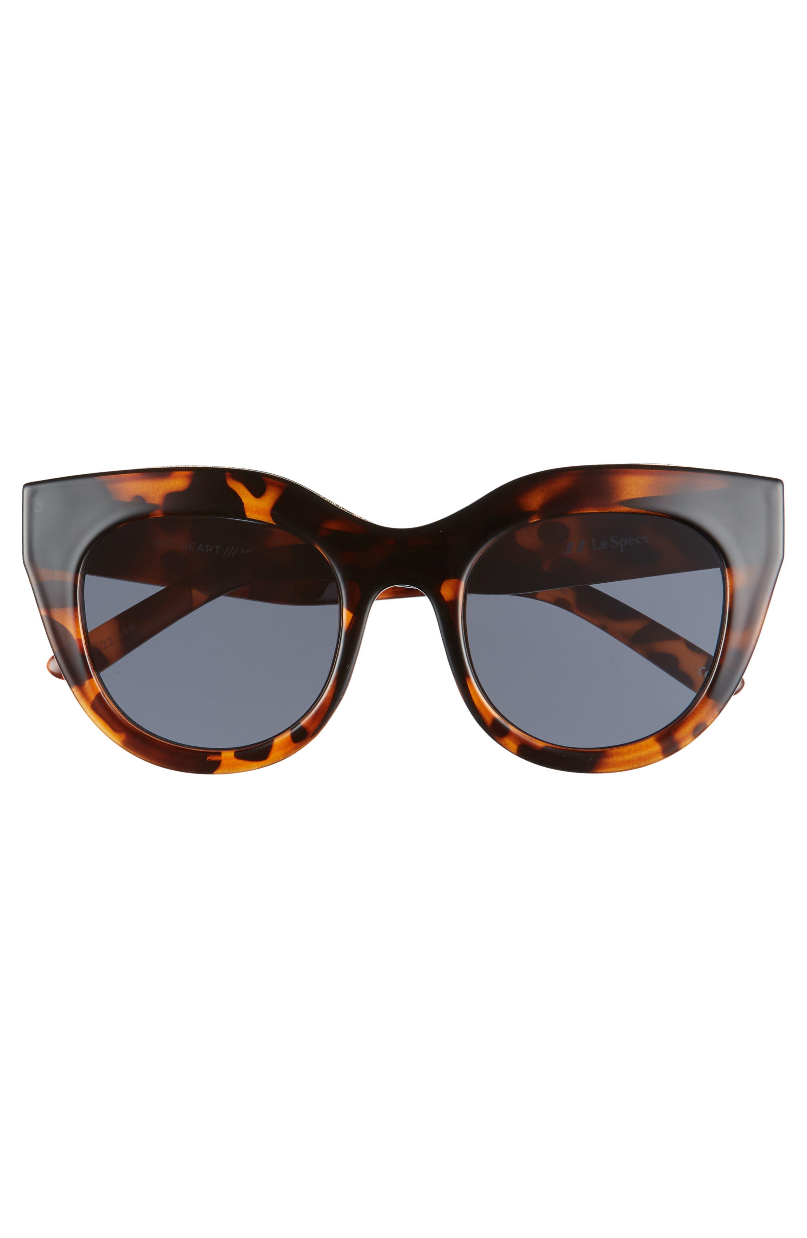 LE SPECS,                             Air Heart 51mm Sunglasses,                             Alternate thumbnail 3, color,                             TORTOISE/ SMOKE