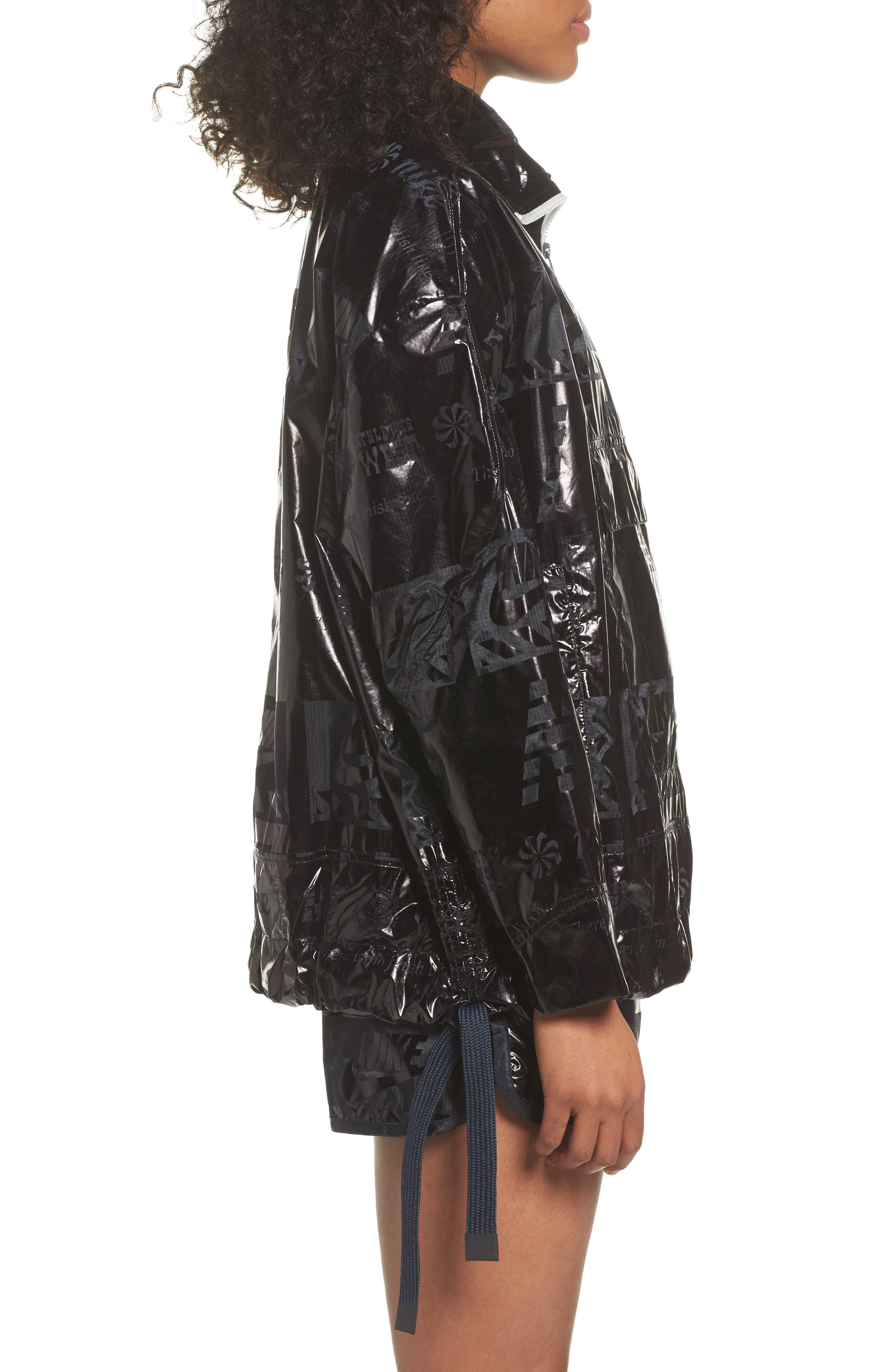 Sportswear Metallic Half Zip Jacket,                             Alternate thumbnail 8, color,