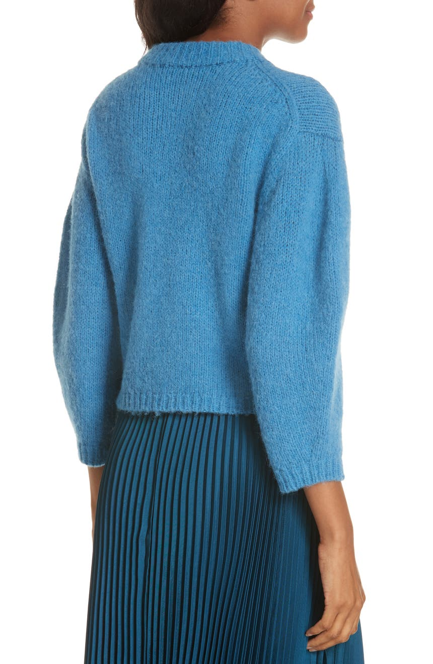 c18dd365b9 Tibi Cozette Alpaca   Wool Blend Crop Sweater