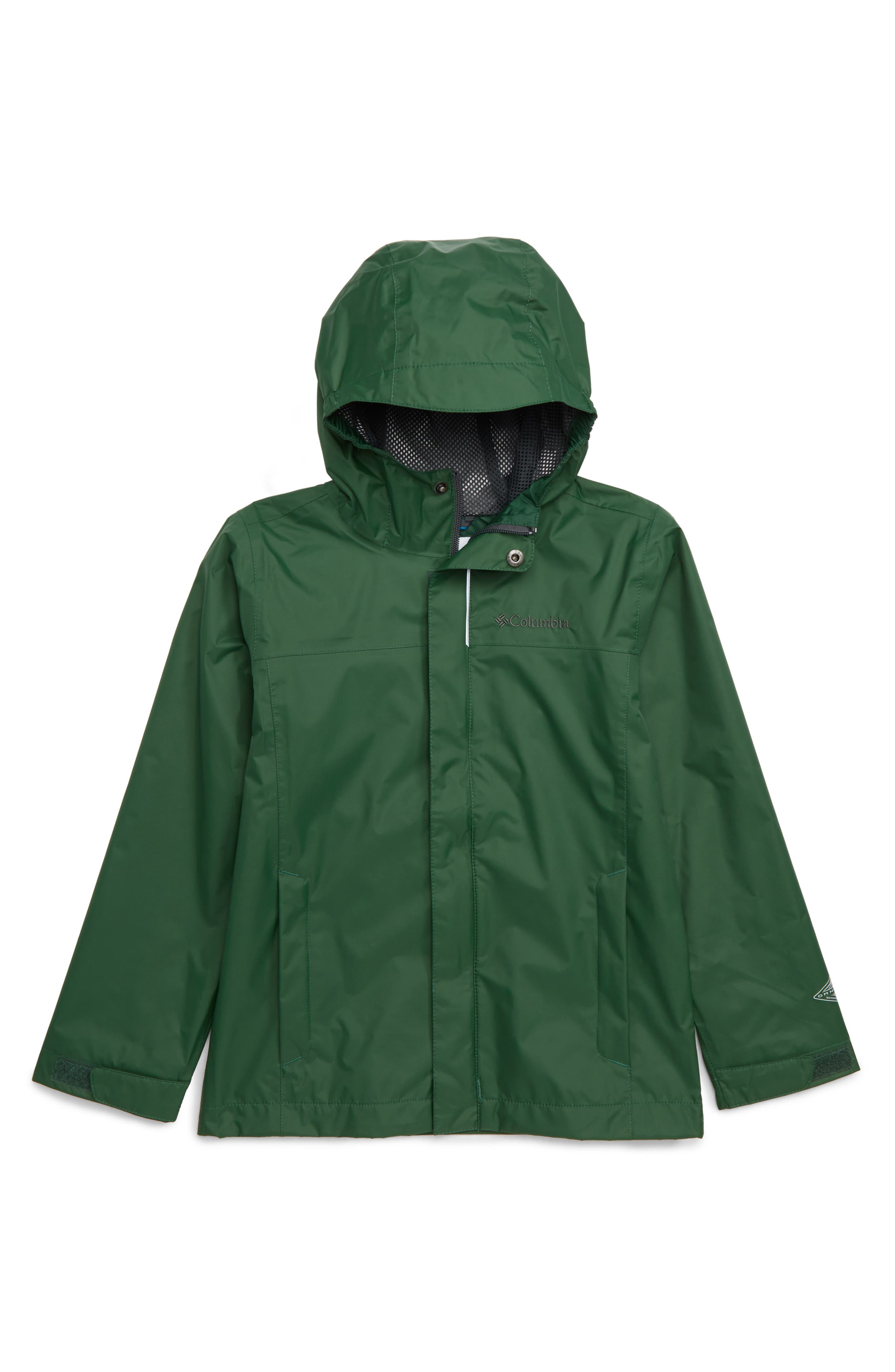 Watertight Waterproof Jacket,                             Main thumbnail 1, color,                             FOREST GRILL