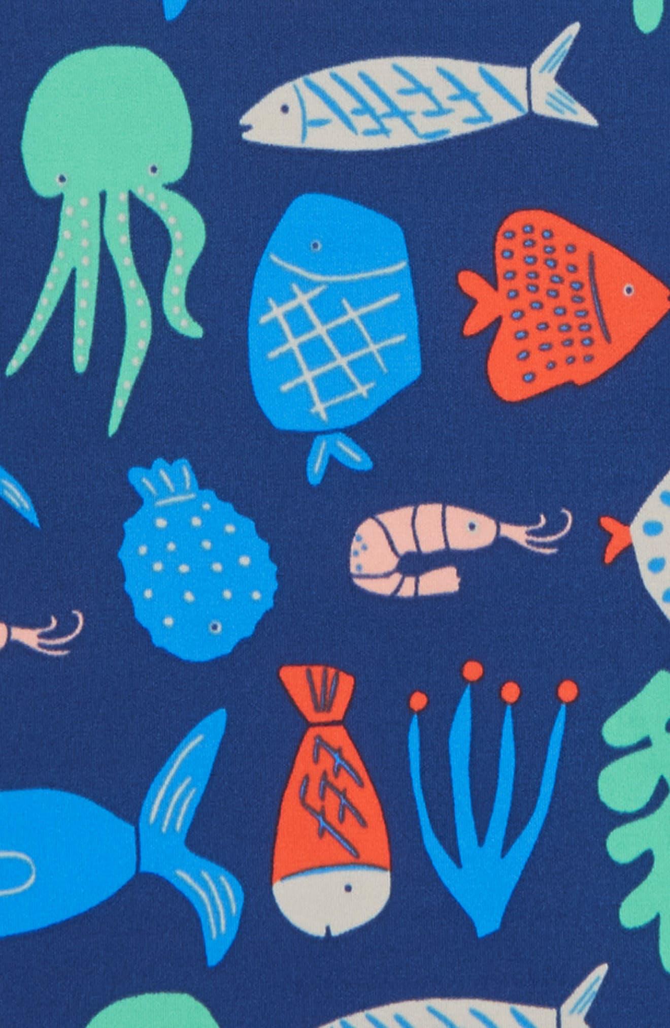 Long Sleeve Rashguard,                             Alternate thumbnail 2, color,                             PNT MULTI DEEP SEA