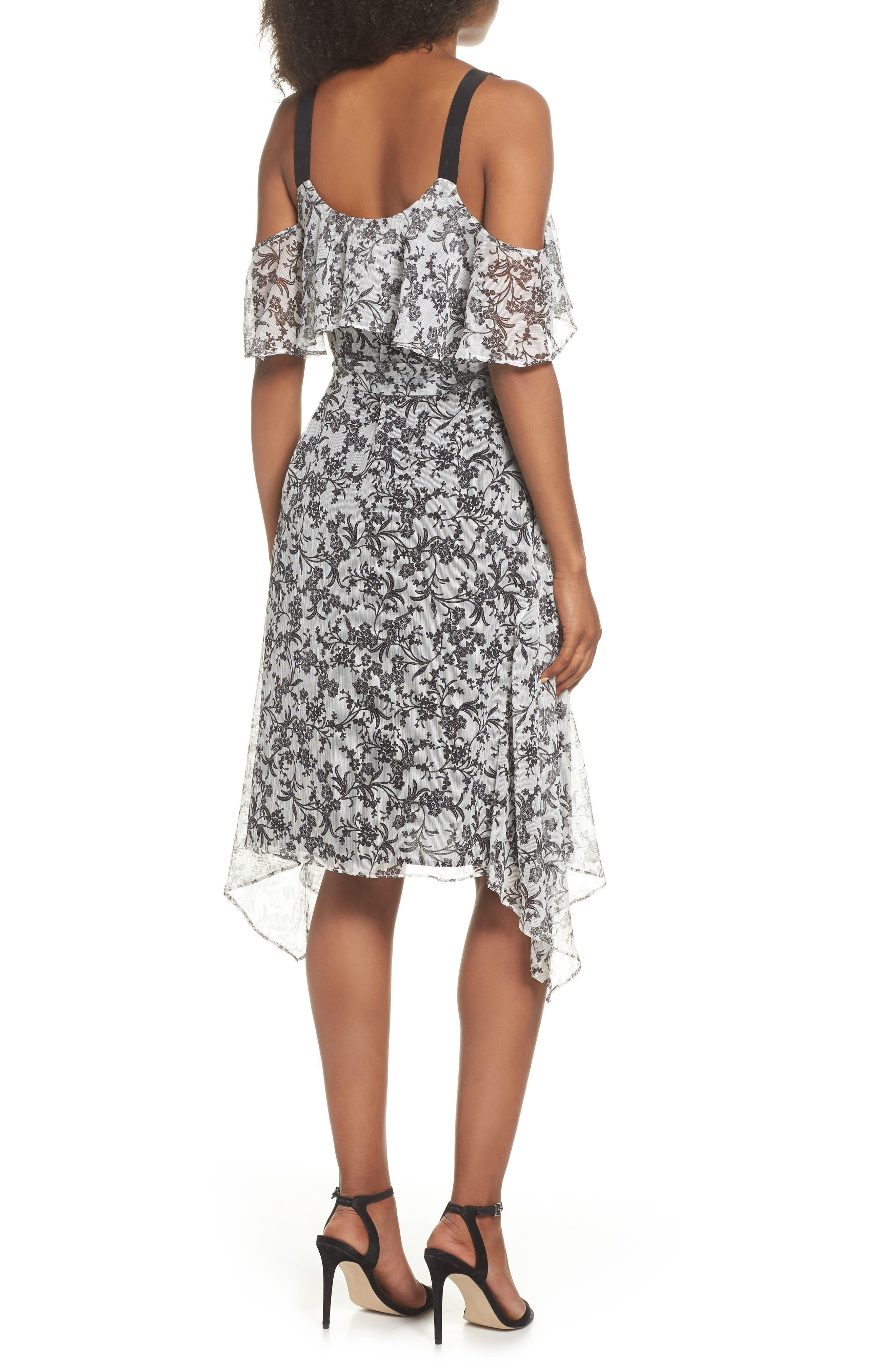 Cold Shoulder Chiffon Dress,                             Alternate thumbnail 2, color,                             114