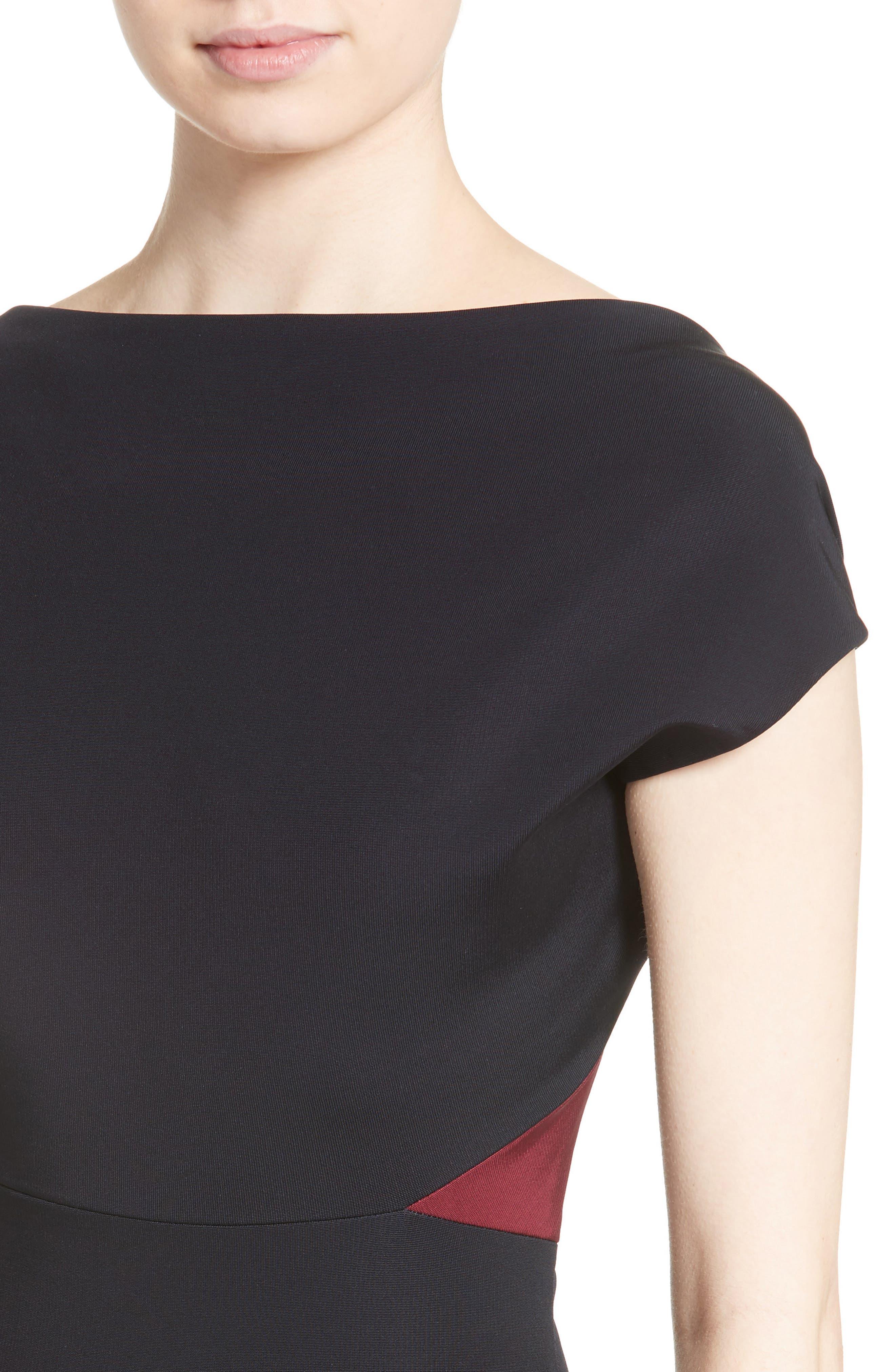 Open Back Rib Knit Dress,                             Alternate thumbnail 4, color,                             400