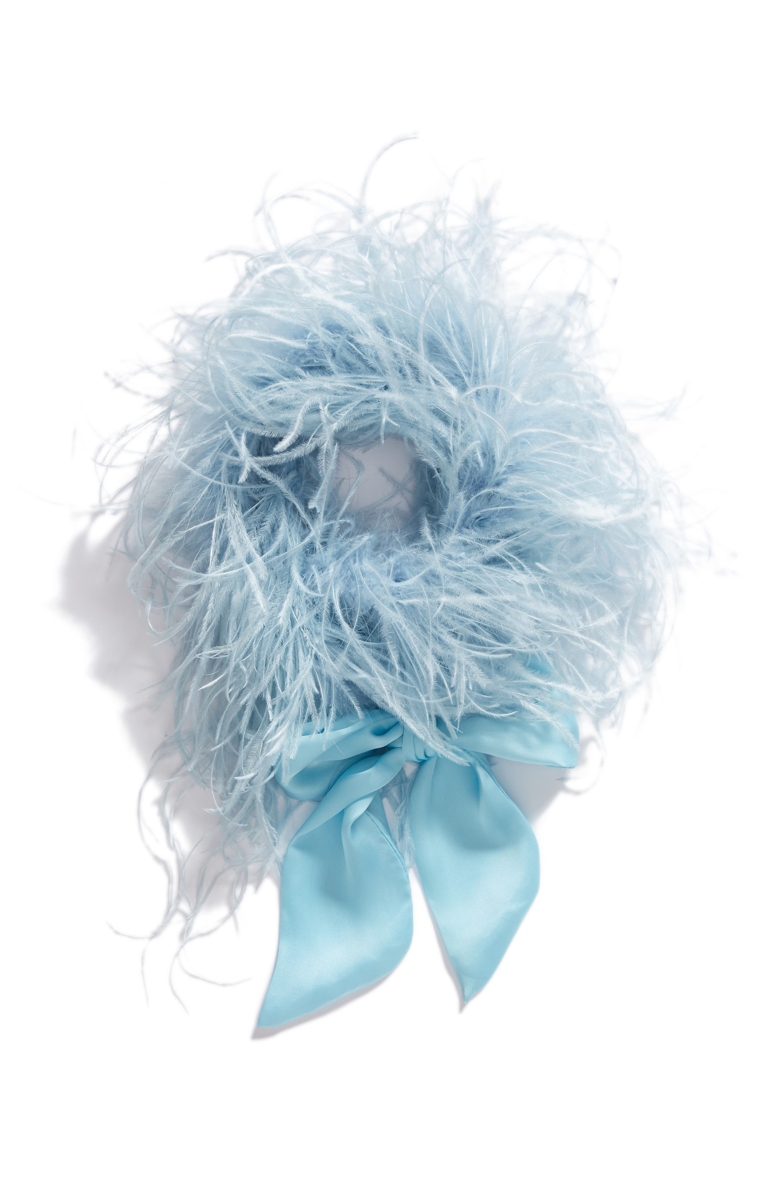 Ostrich Feather Scarf,                             Alternate thumbnail 5, color,