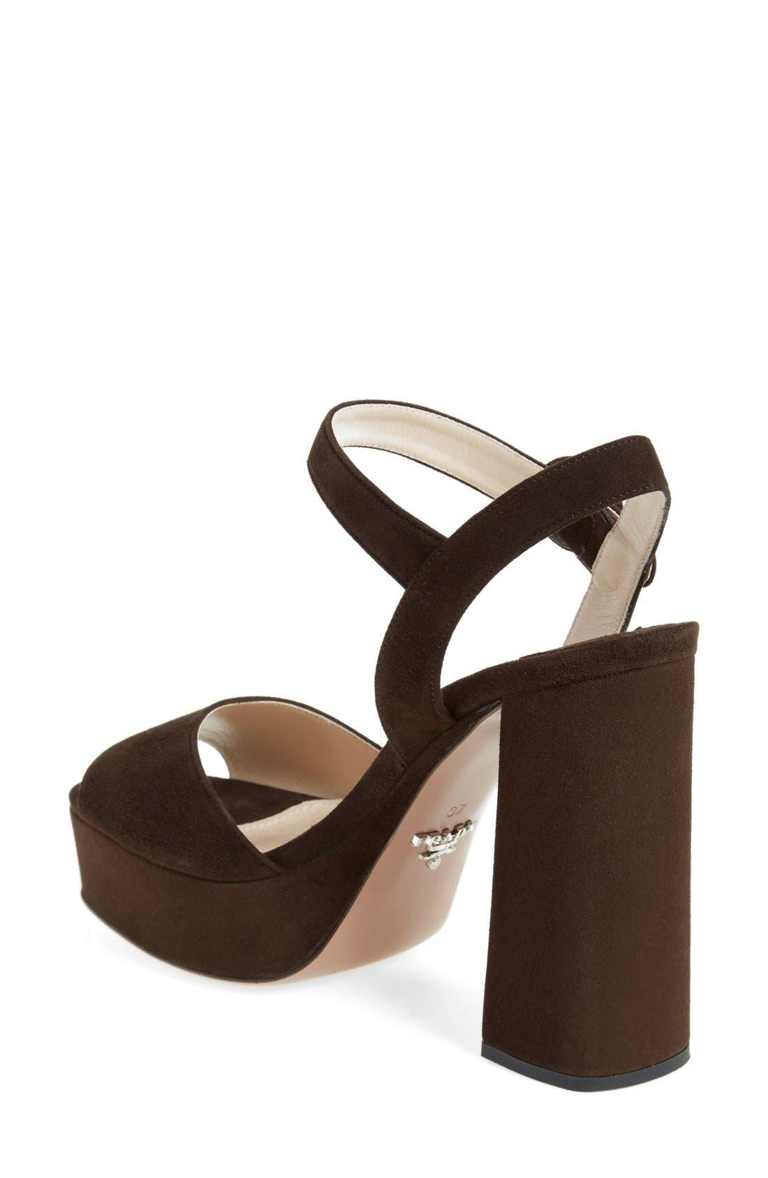 Block Heel Platform Sandal,                             Alternate thumbnail 4, color,