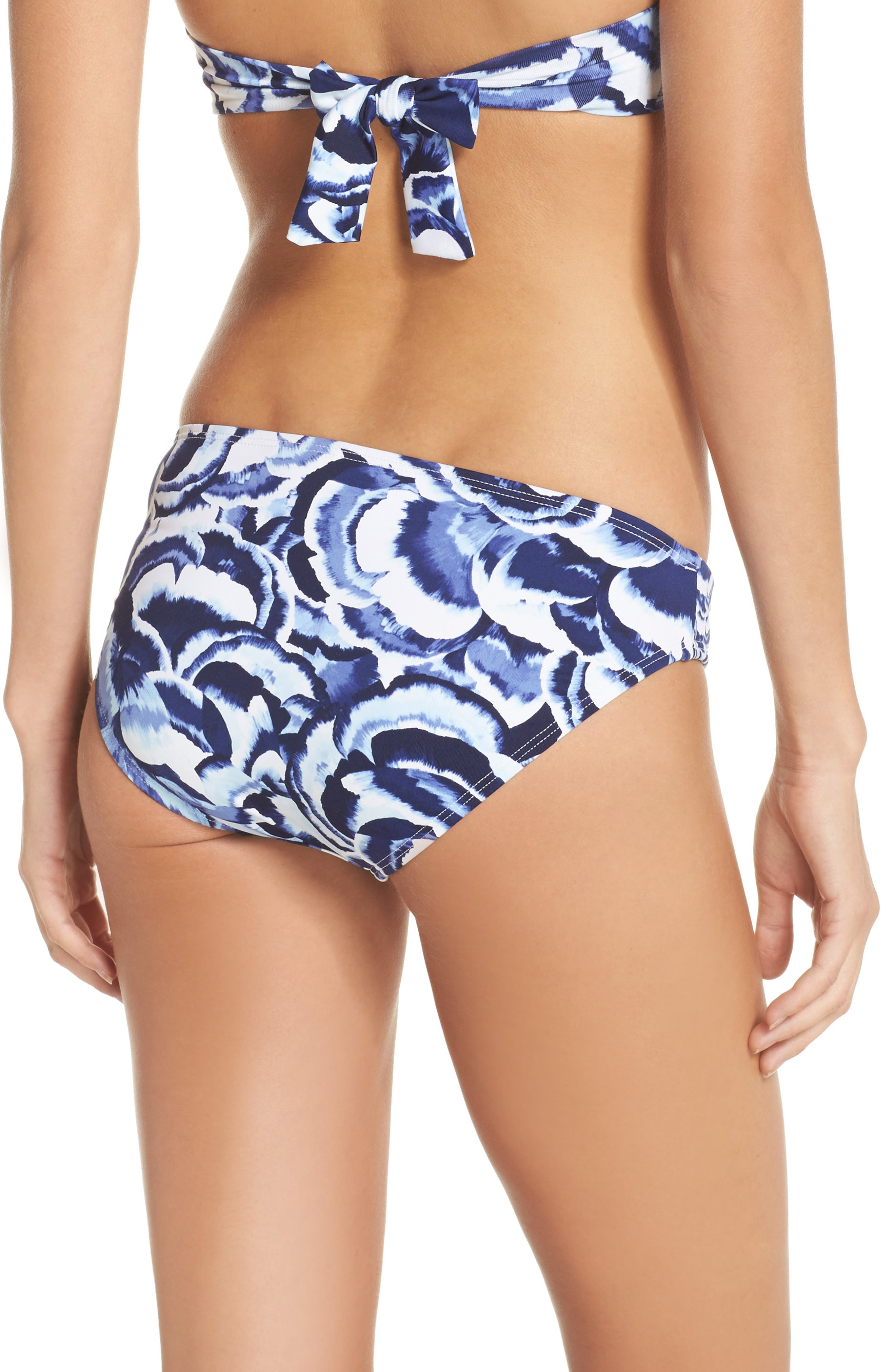 Pansy Twist Front Bikini Bottoms,                             Alternate thumbnail 2, color,                             100