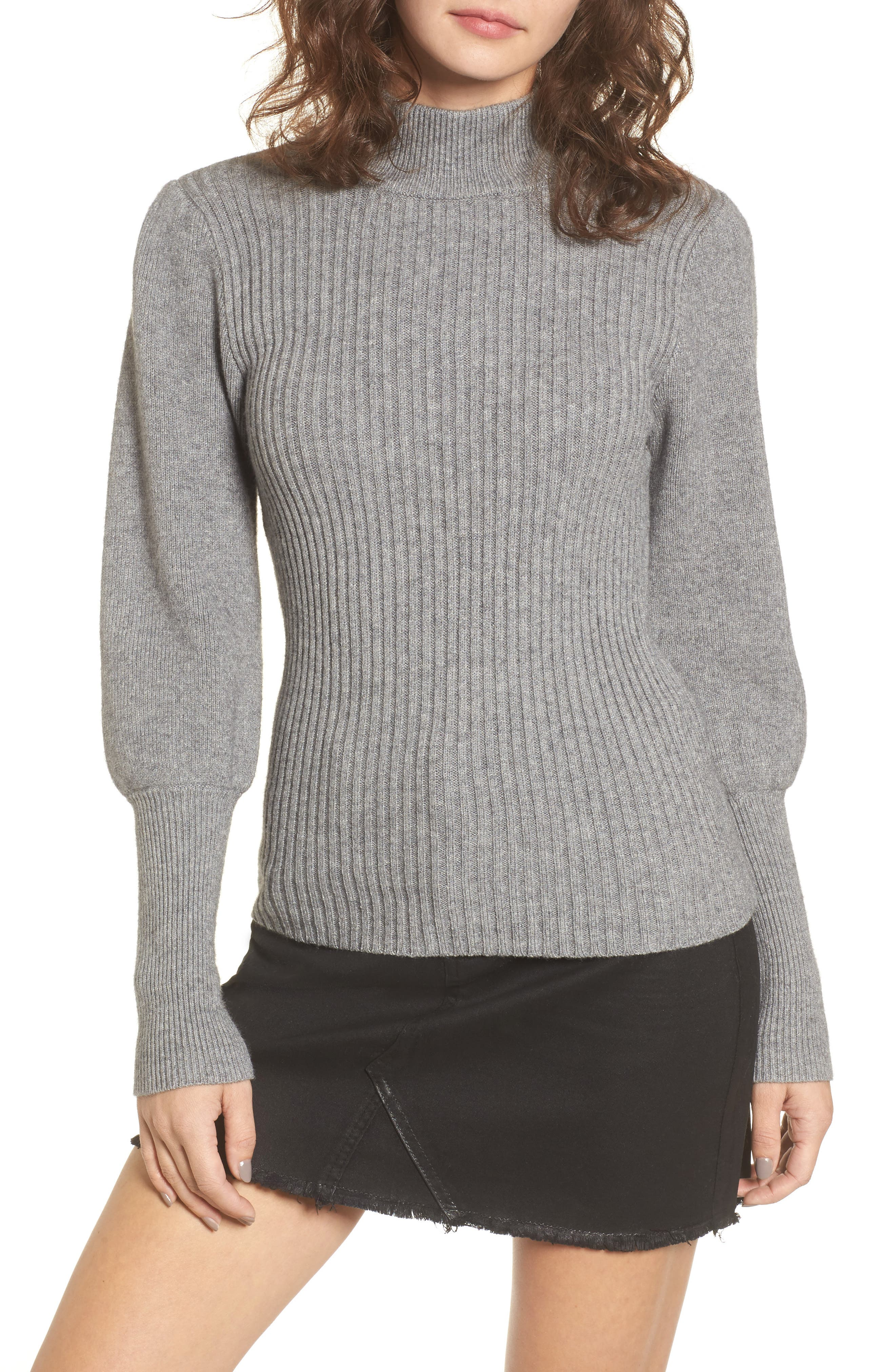 Puff Sleeve Sweater,                             Main thumbnail 1, color,