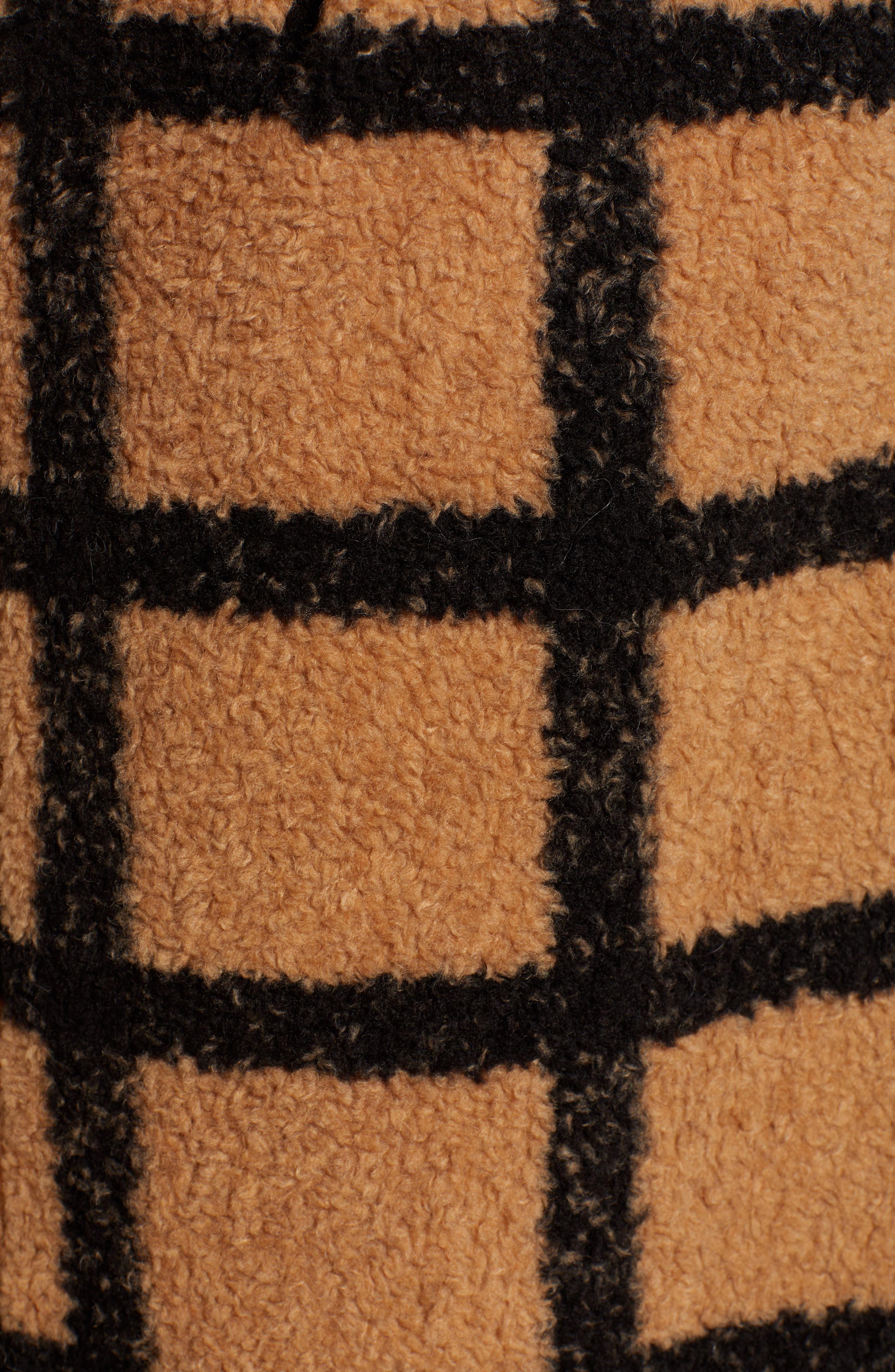 Berber Longline Plaid Coat,                             Alternate thumbnail 6, color,                             230