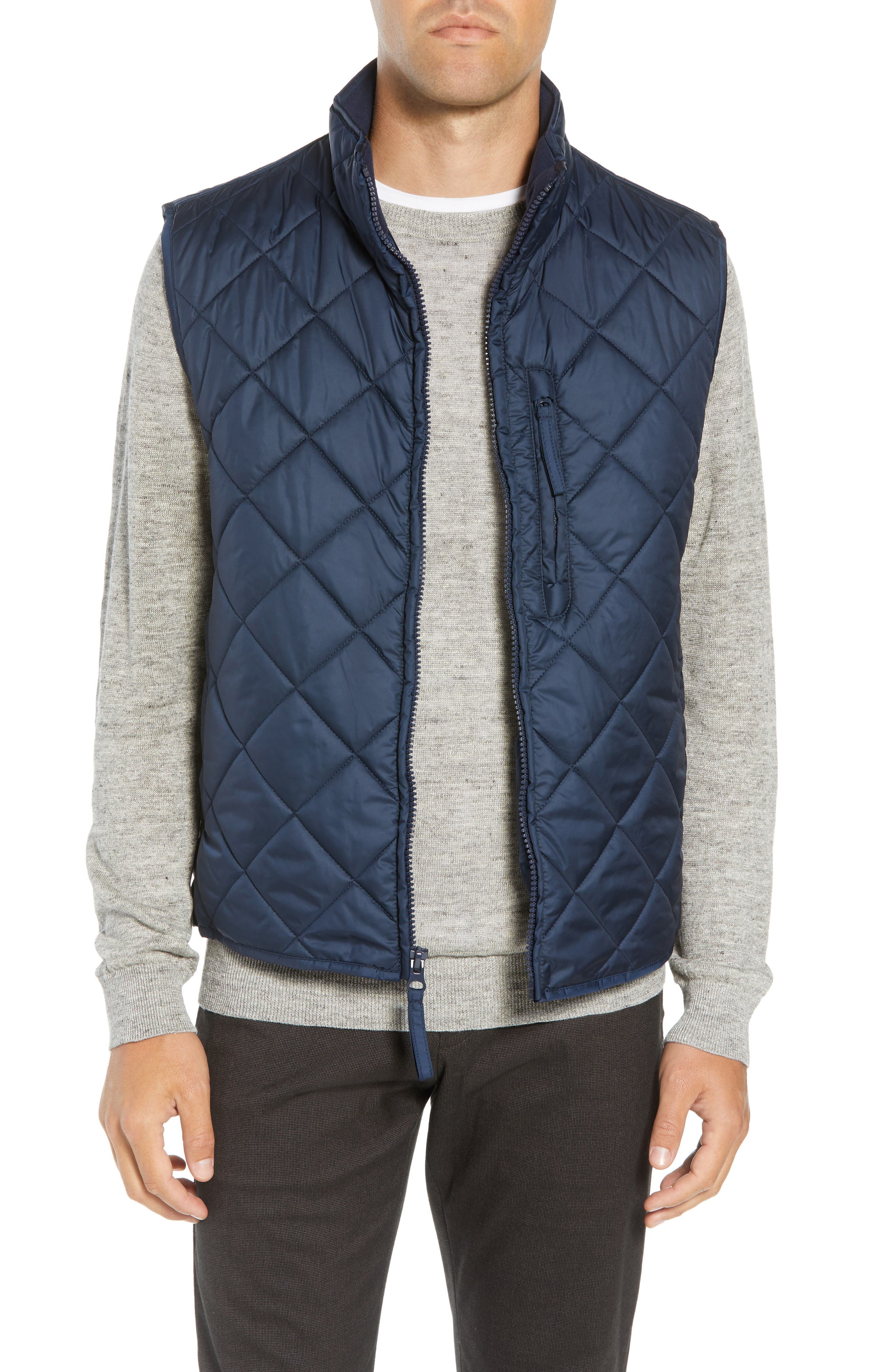 Marc New York Chester Packable Quilted Vest, Blue