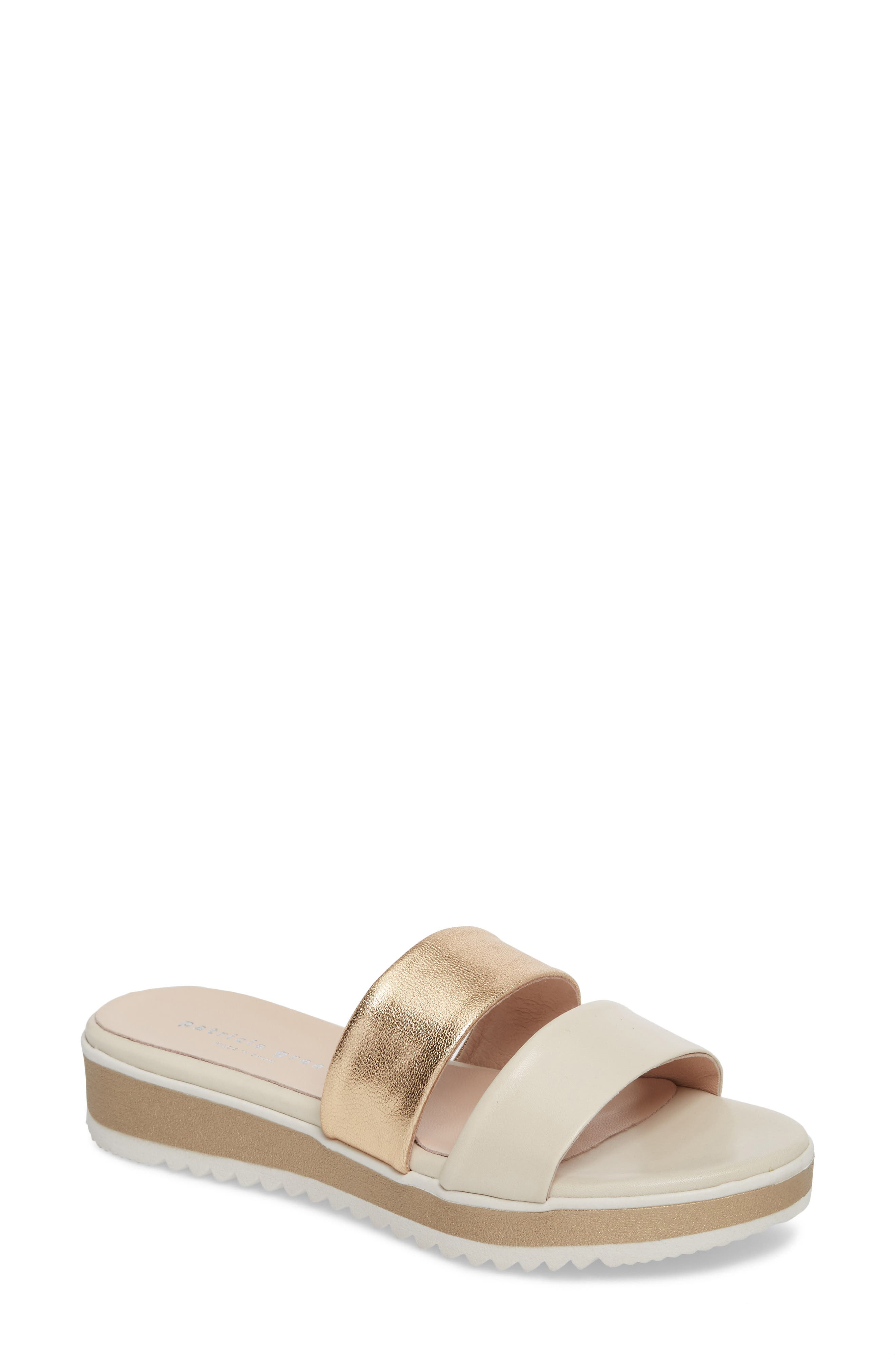 Bailey Slide Sandal,                             Main thumbnail 1, color,                             SAND LEATHER