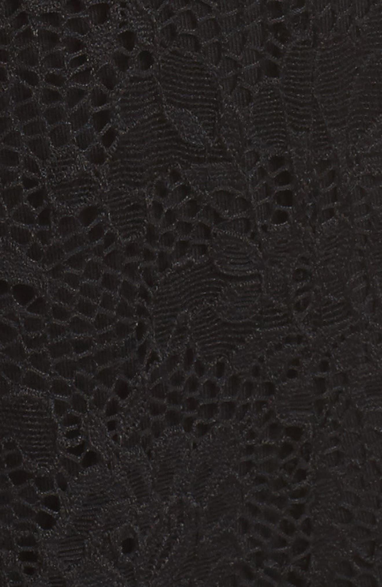 Lace Jumpsuit,                             Alternate thumbnail 6, color,                             BLACK