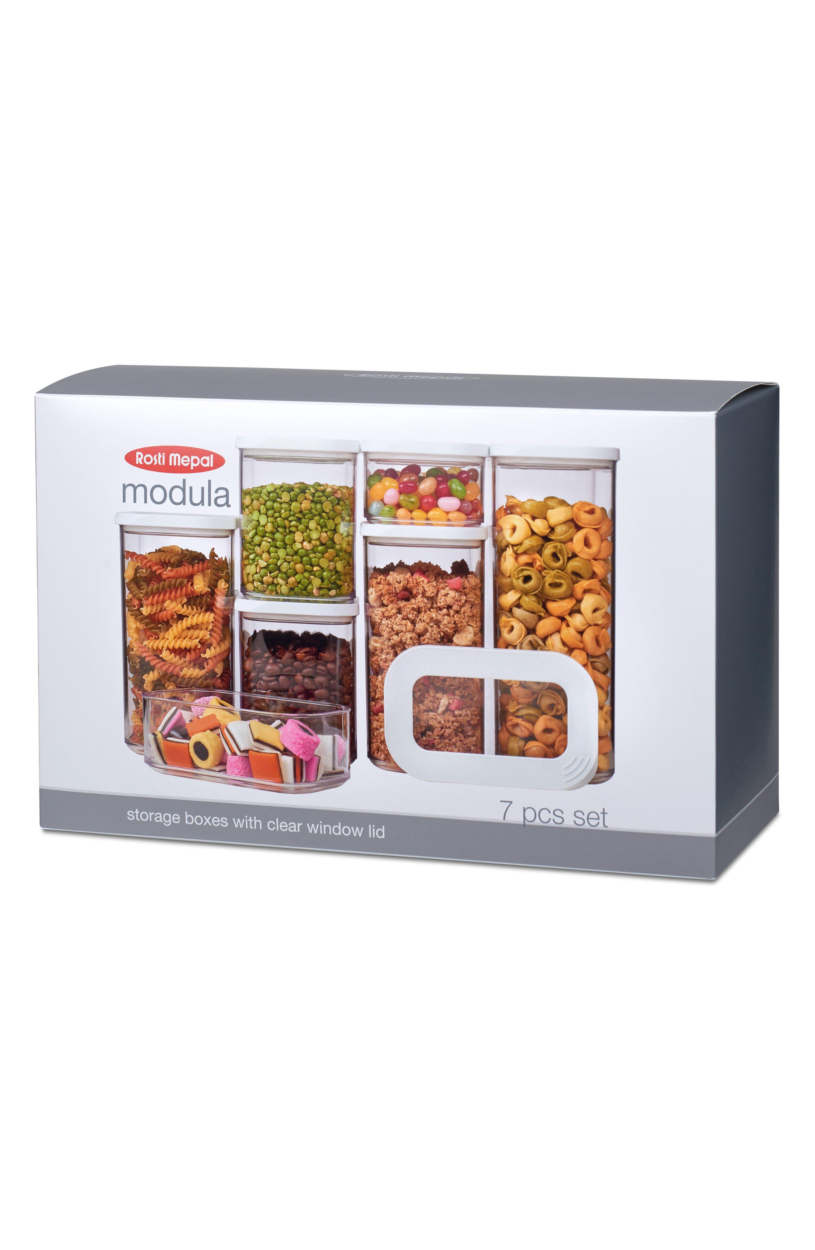 Modula 7-Piece Storage Box Set,                             Alternate thumbnail 2, color,                             WHITE