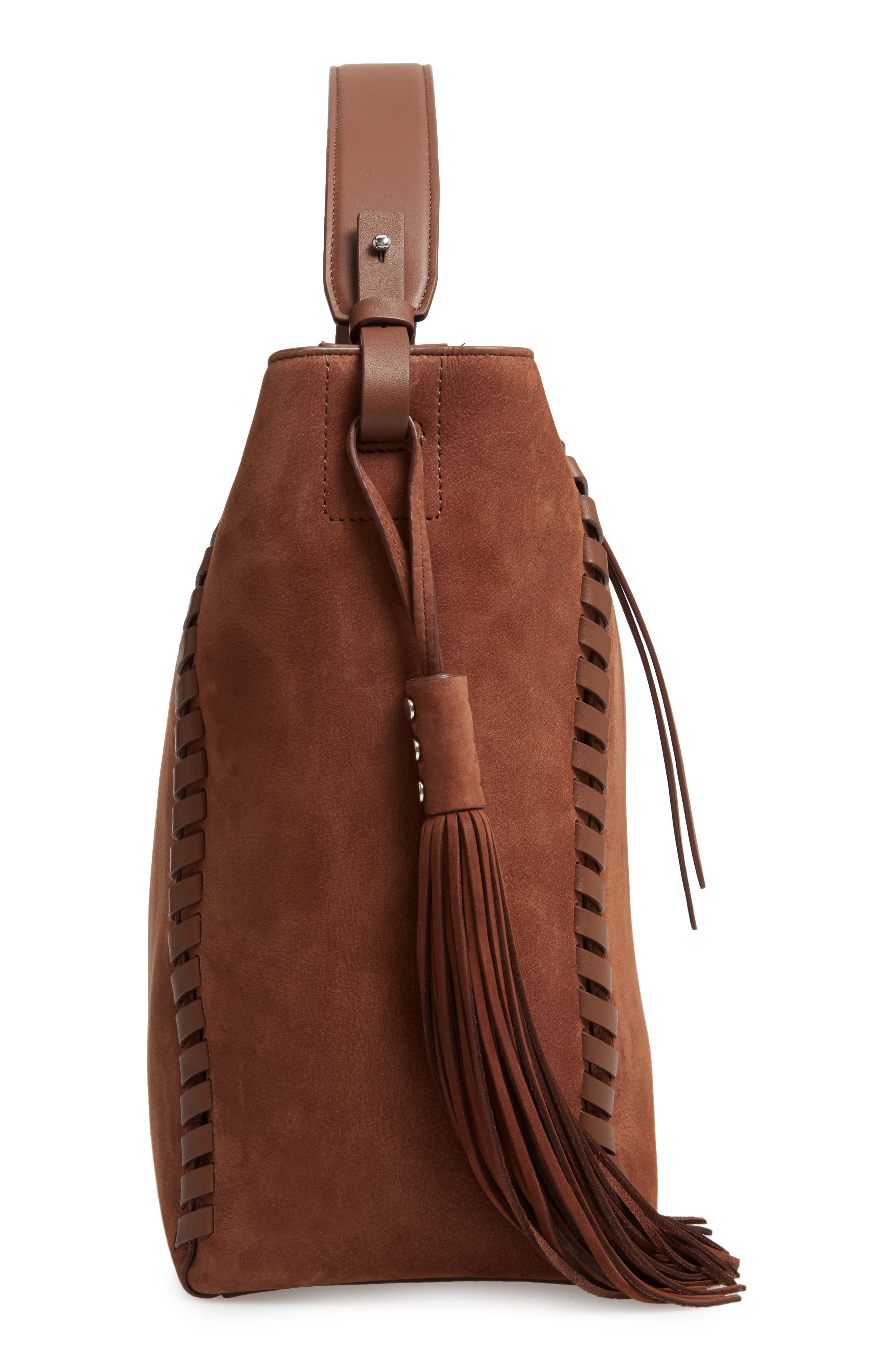 Kepi East/West Leather Shoulder Bag,                             Alternate thumbnail 5, color,                             210