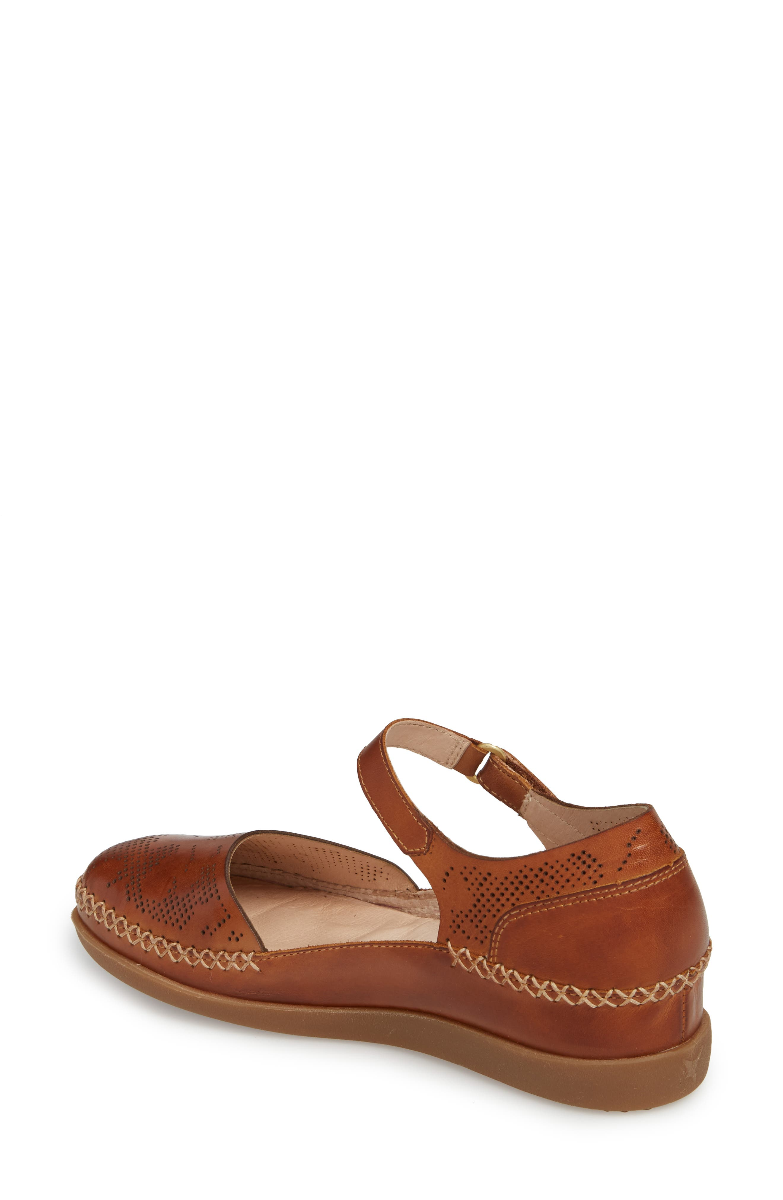 Cadaques Flat,                             Alternate thumbnail 2, color,                             BRANDY LEATHER