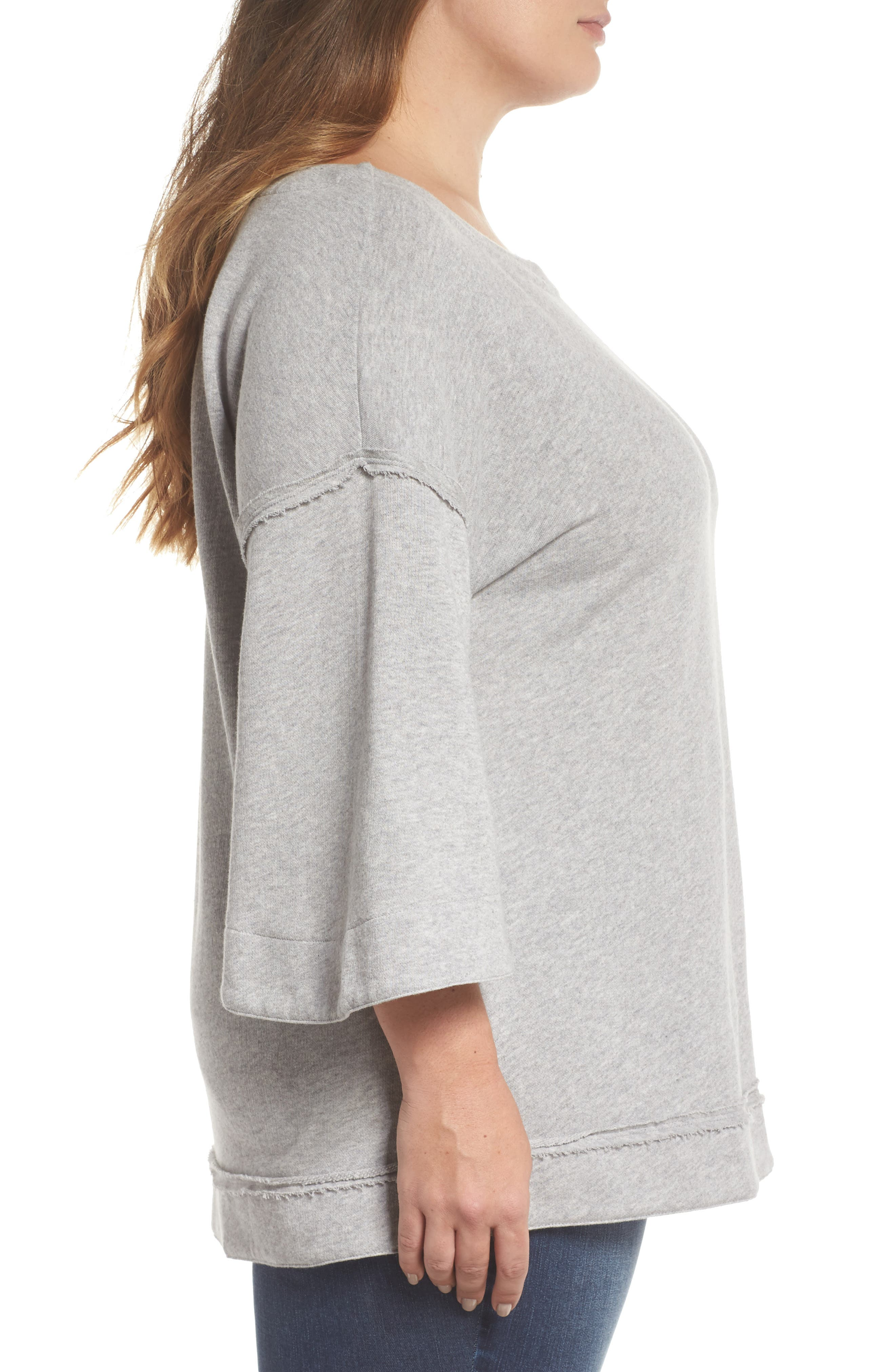 Split Sleeve Sweatshirt,                             Alternate thumbnail 8, color,