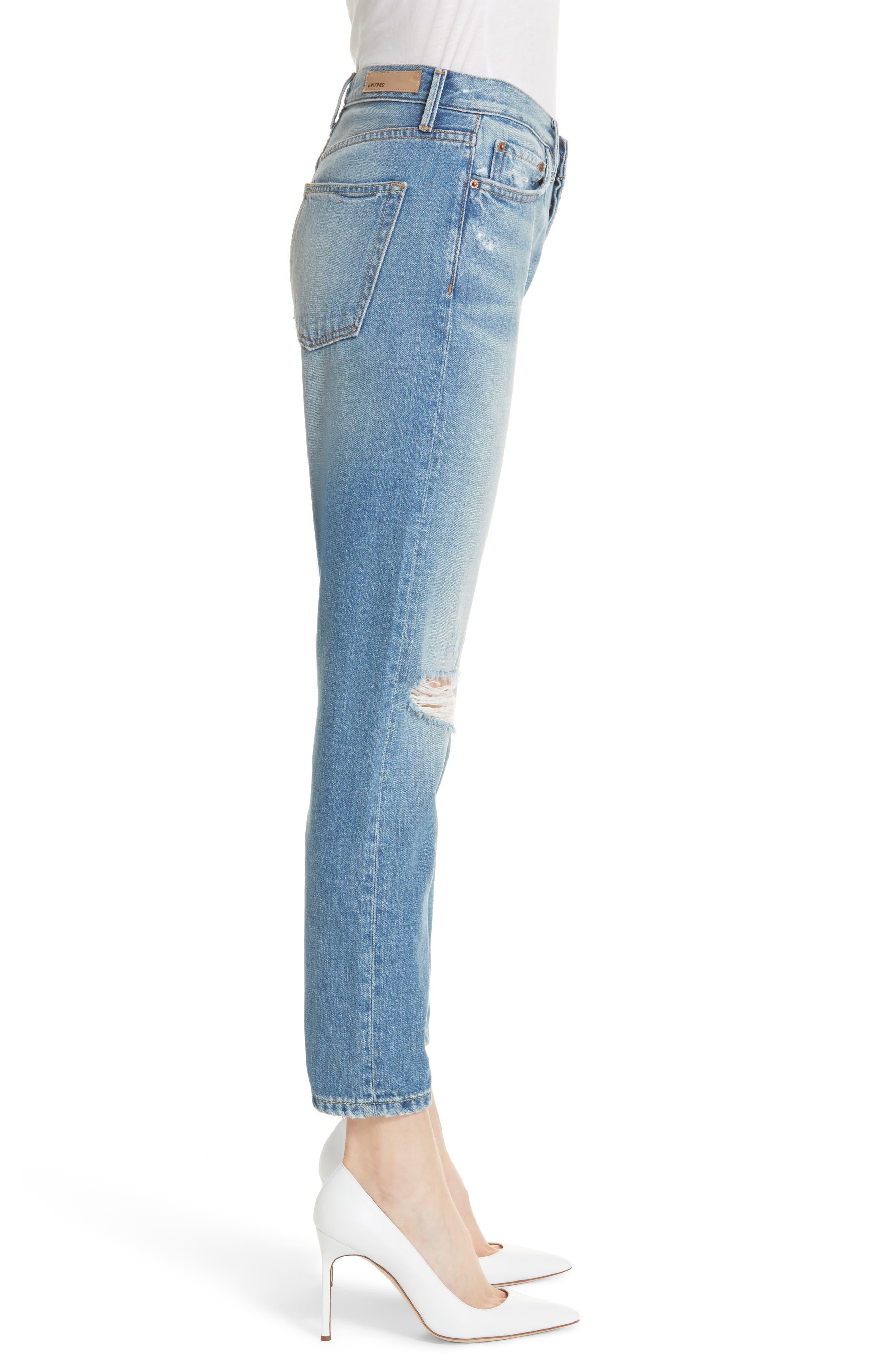 Kiara High Waist Ankle Boyfriend Jeans,                             Alternate thumbnail 3, color,                             464