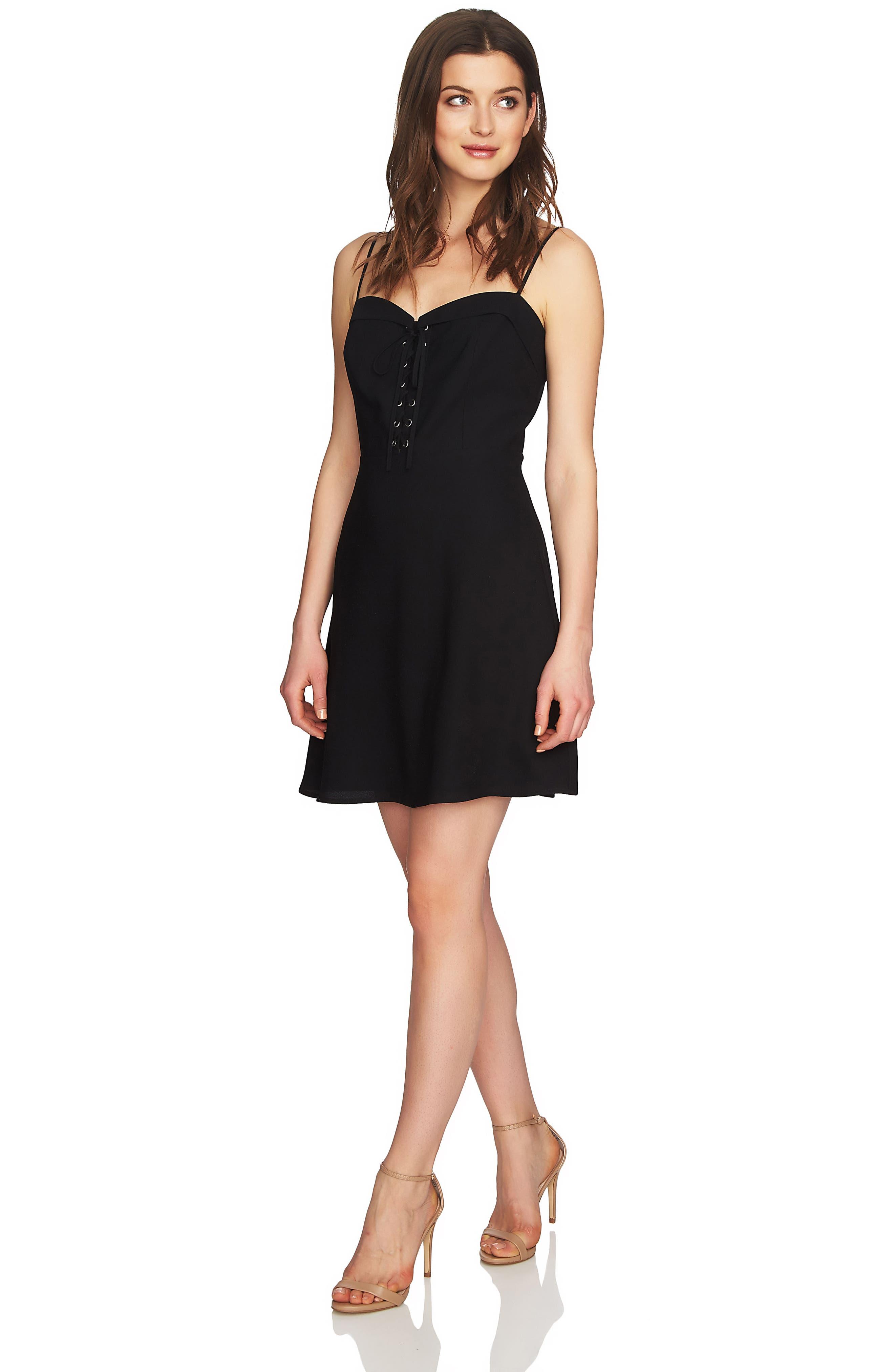 Robin Lace-Up Dress,                             Alternate thumbnail 4, color,