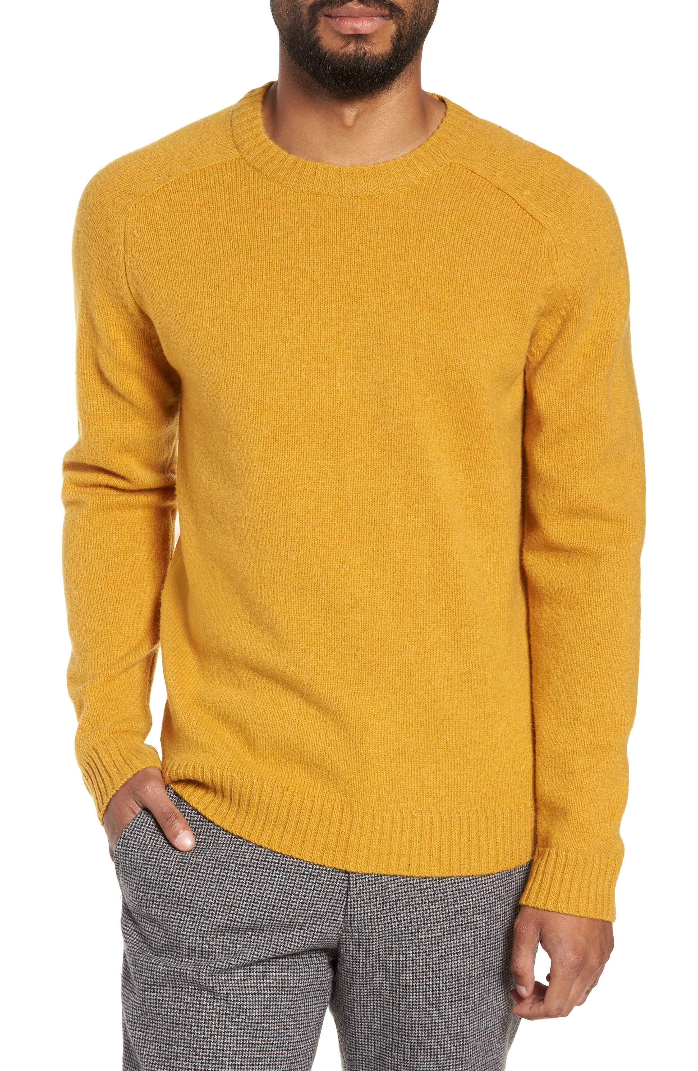 New Coban Regular Fit Wool Sweater,                             Main thumbnail 1, color,                             CURRY