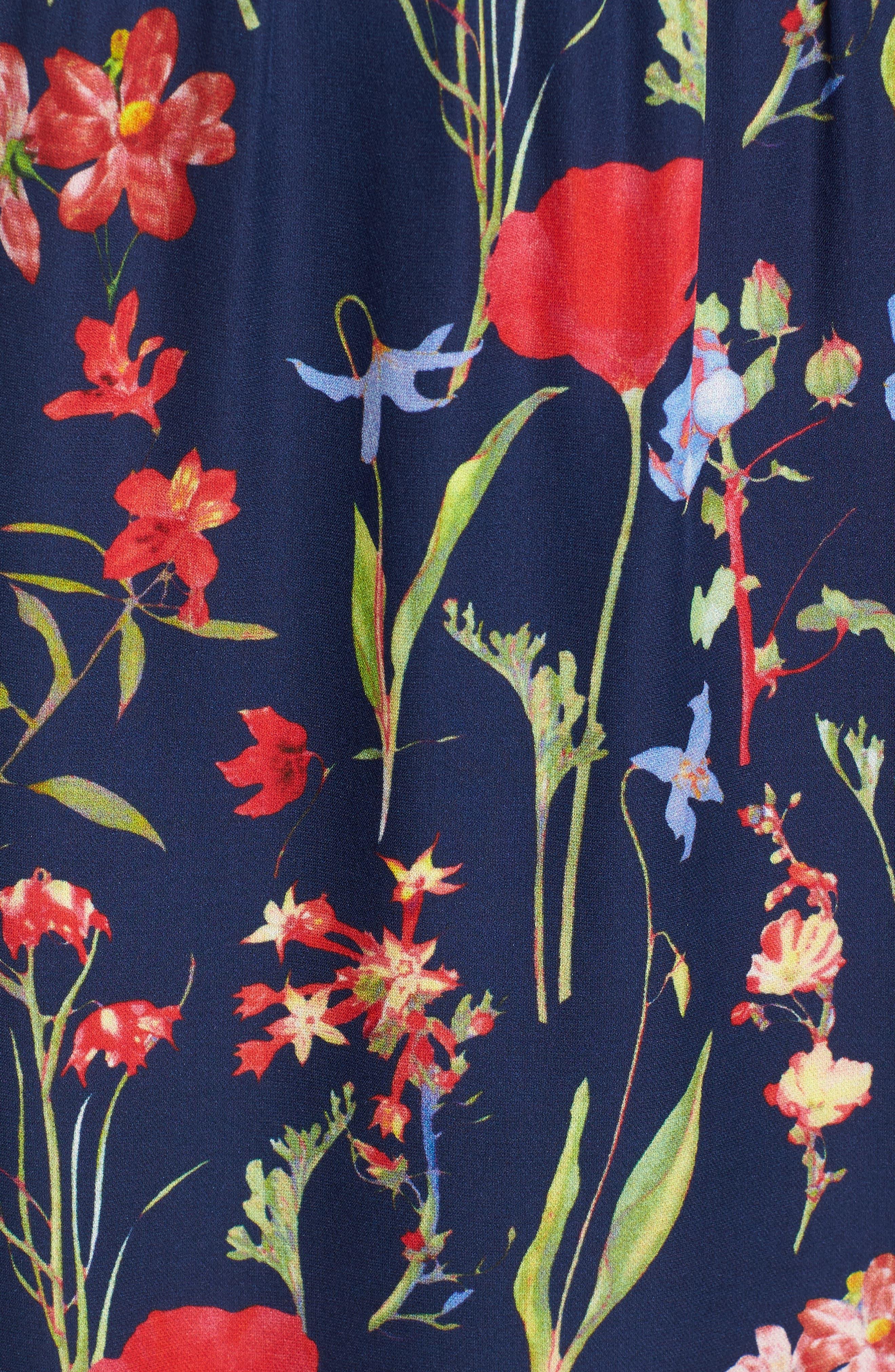 Kam Cold Shoulder Silk Dress,                             Alternate thumbnail 5, color,                             416