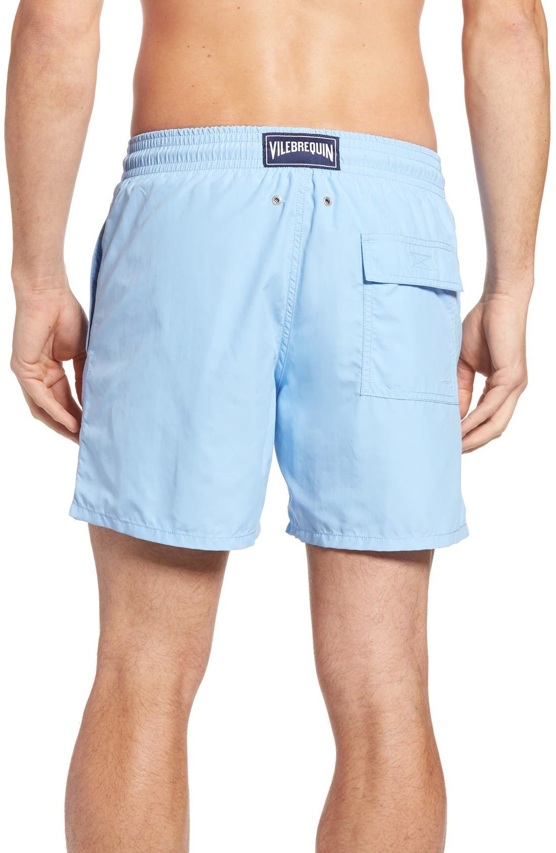 Coral Water Reactive Swim Trunks,                             Alternate thumbnail 2, color,                             450