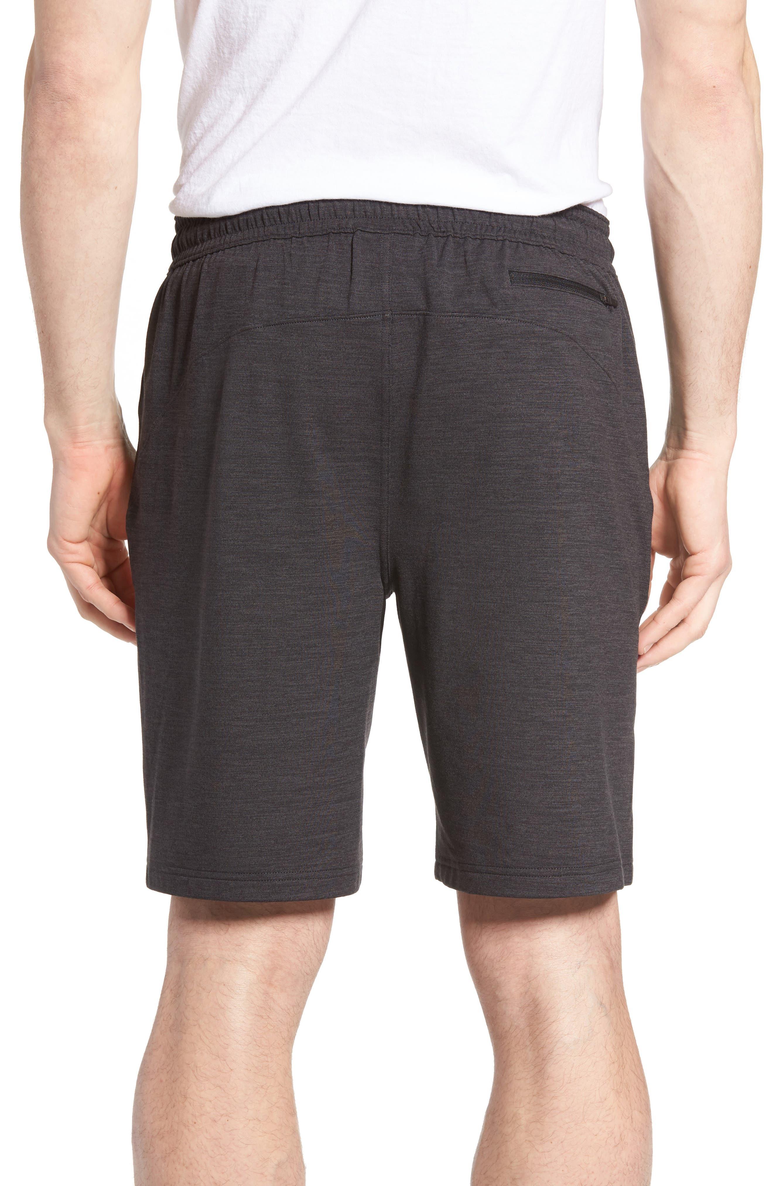 ZELLA,                             Pyrite Knit Shorts,                             Alternate thumbnail 2, color,                             BLACK OXIDE MELANGE
