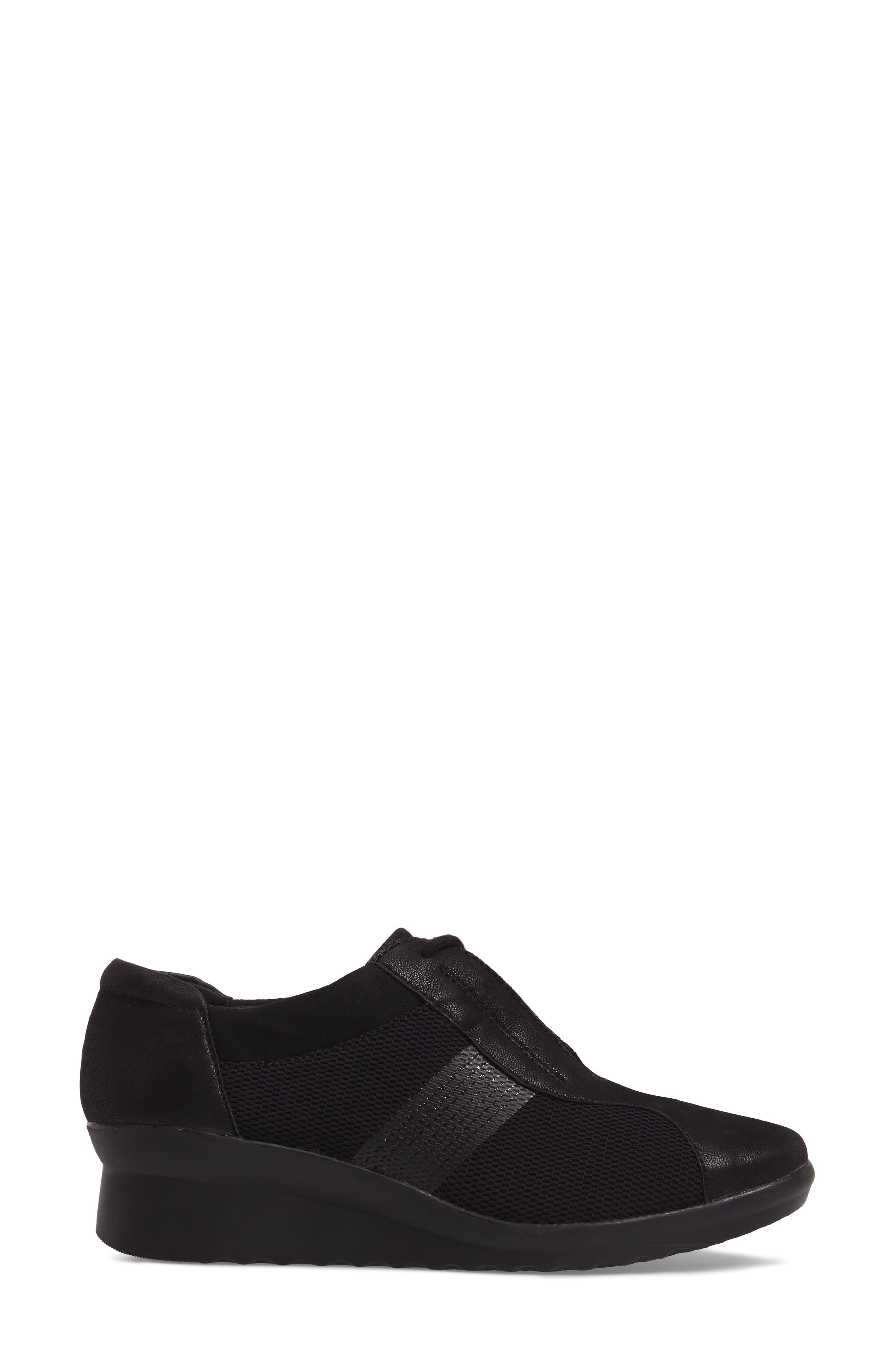 Caddell Fly Sneaker,                             Alternate thumbnail 3, color,                             BLACK FABRIC