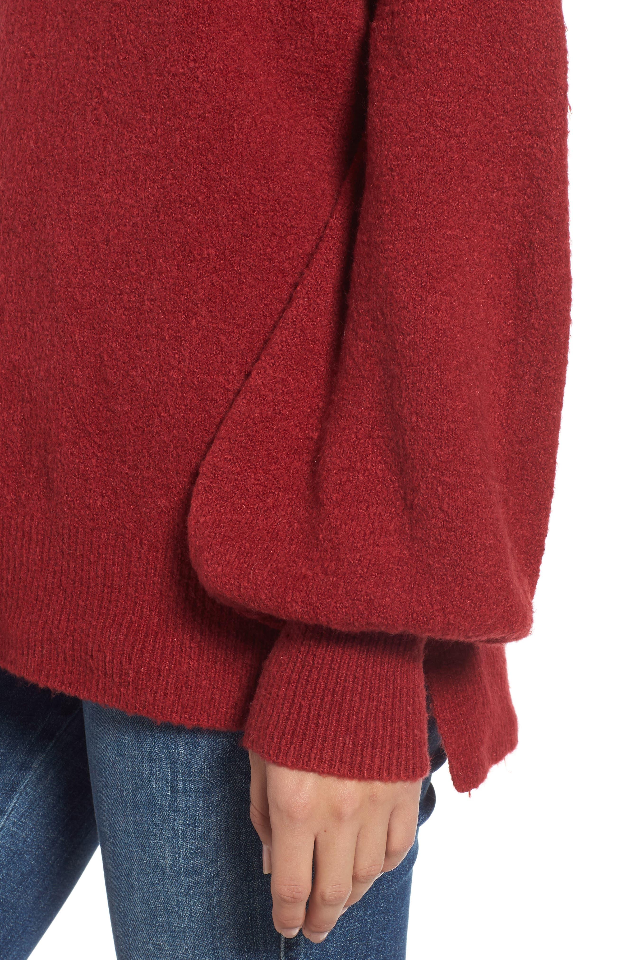 Orla Sweater,                             Alternate thumbnail 4, color,                             DEEP FRAMBOISE