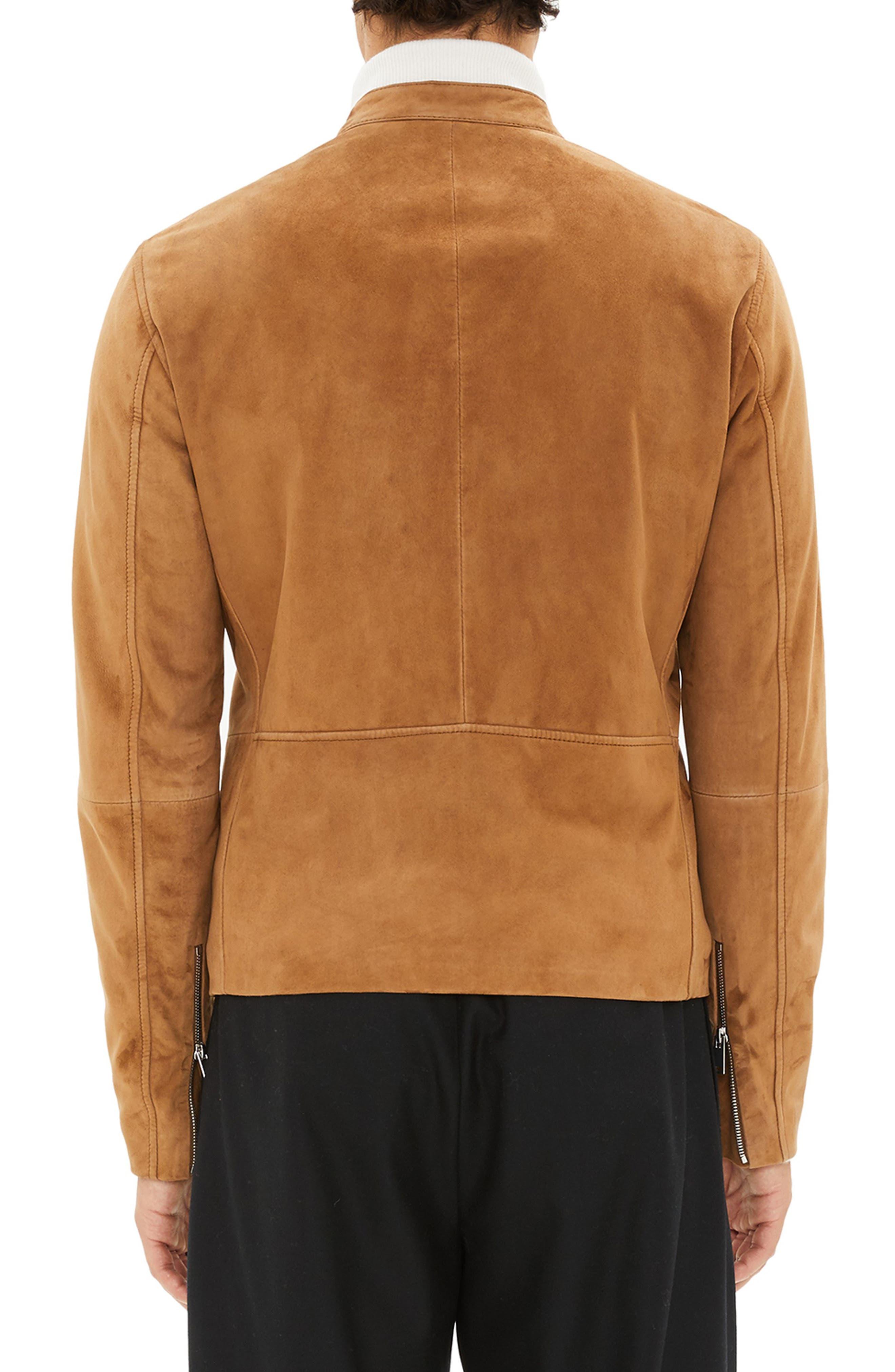 Wynwood Radic Leather Jacket,                             Alternate thumbnail 2, color,                             SANDSTORM